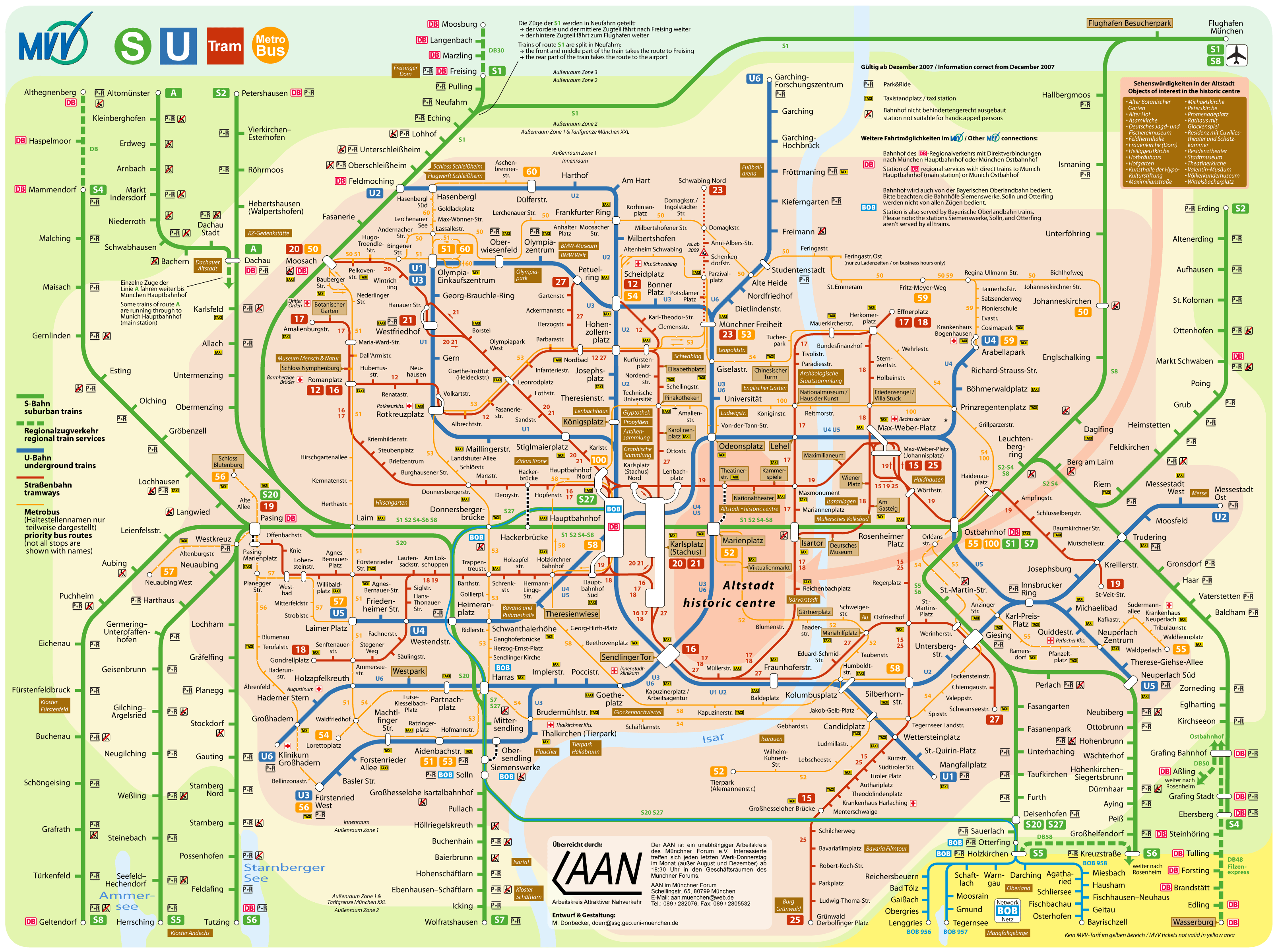 Munich Transport Map • Mapsof.net