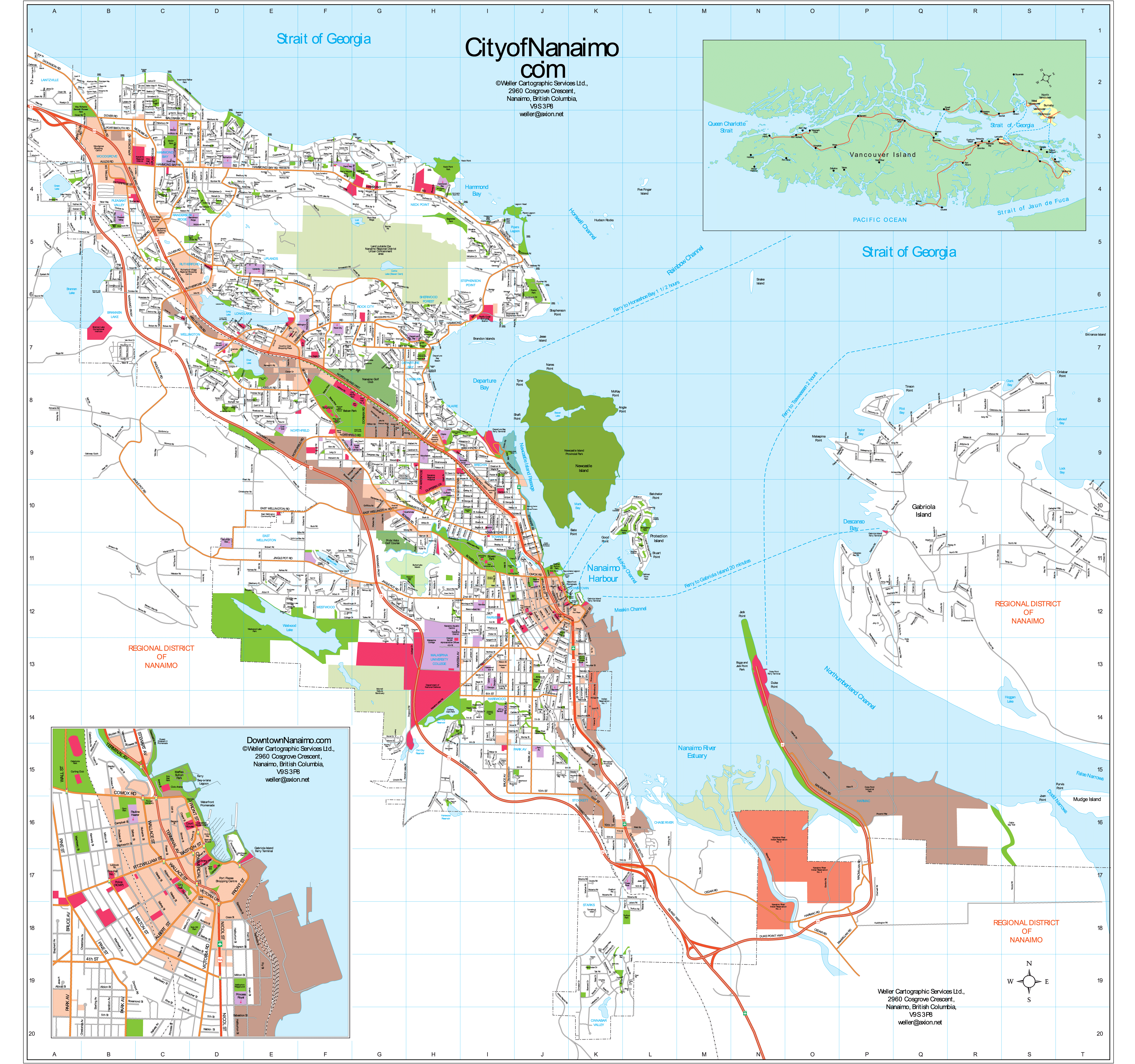Nanaimo Detailed Map Mapsofnet