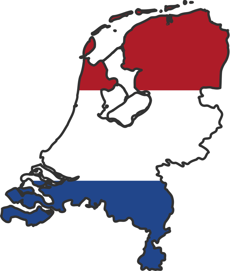 Netherlands Flag Map large map