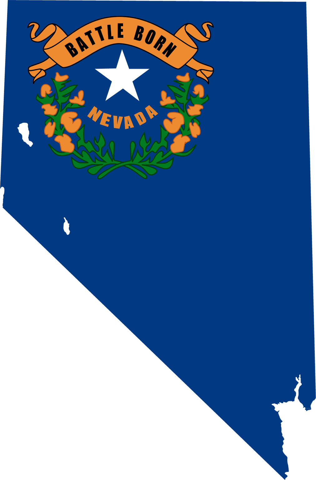 Nevada Flag Map  Mapsofnet