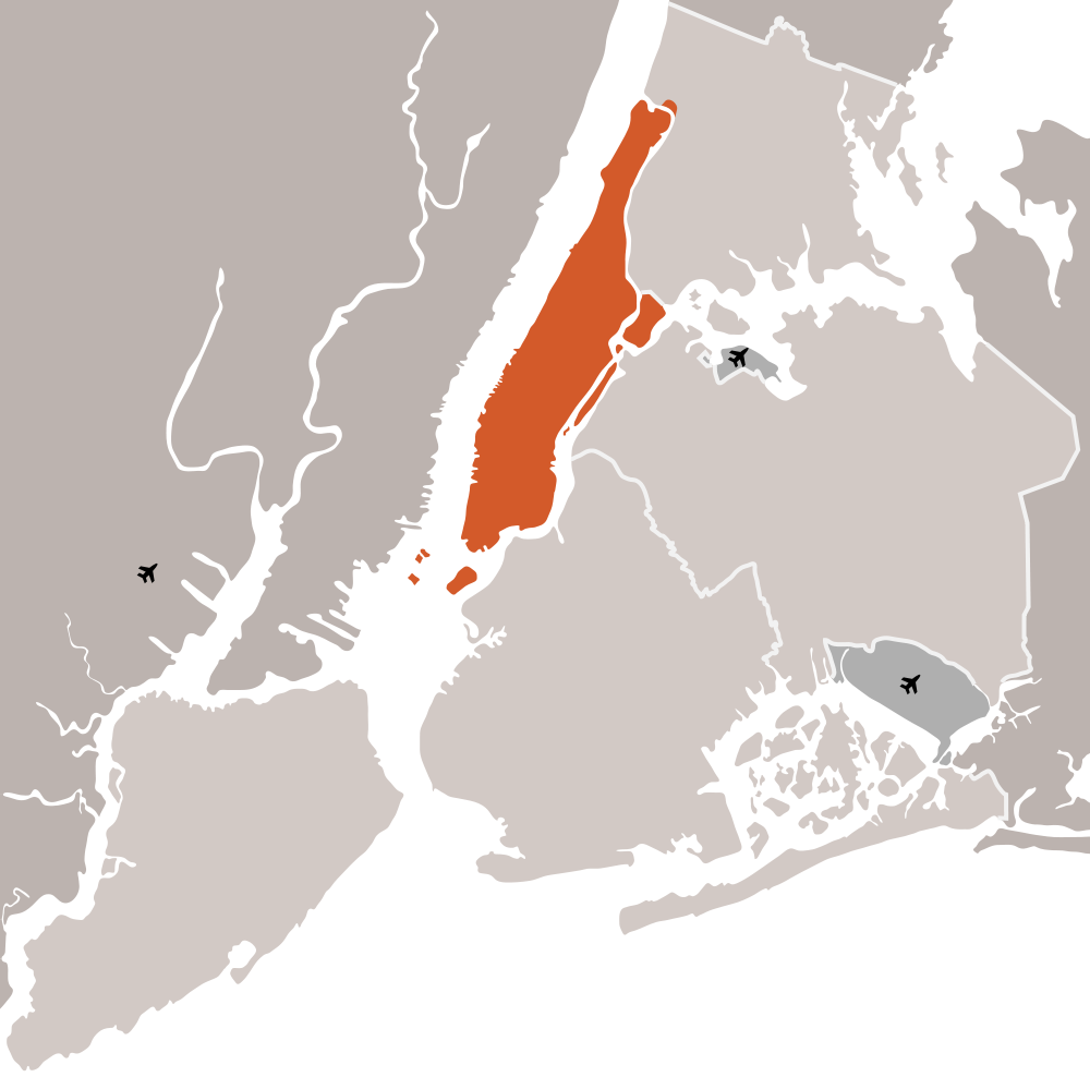 click on the new york city and manhattan