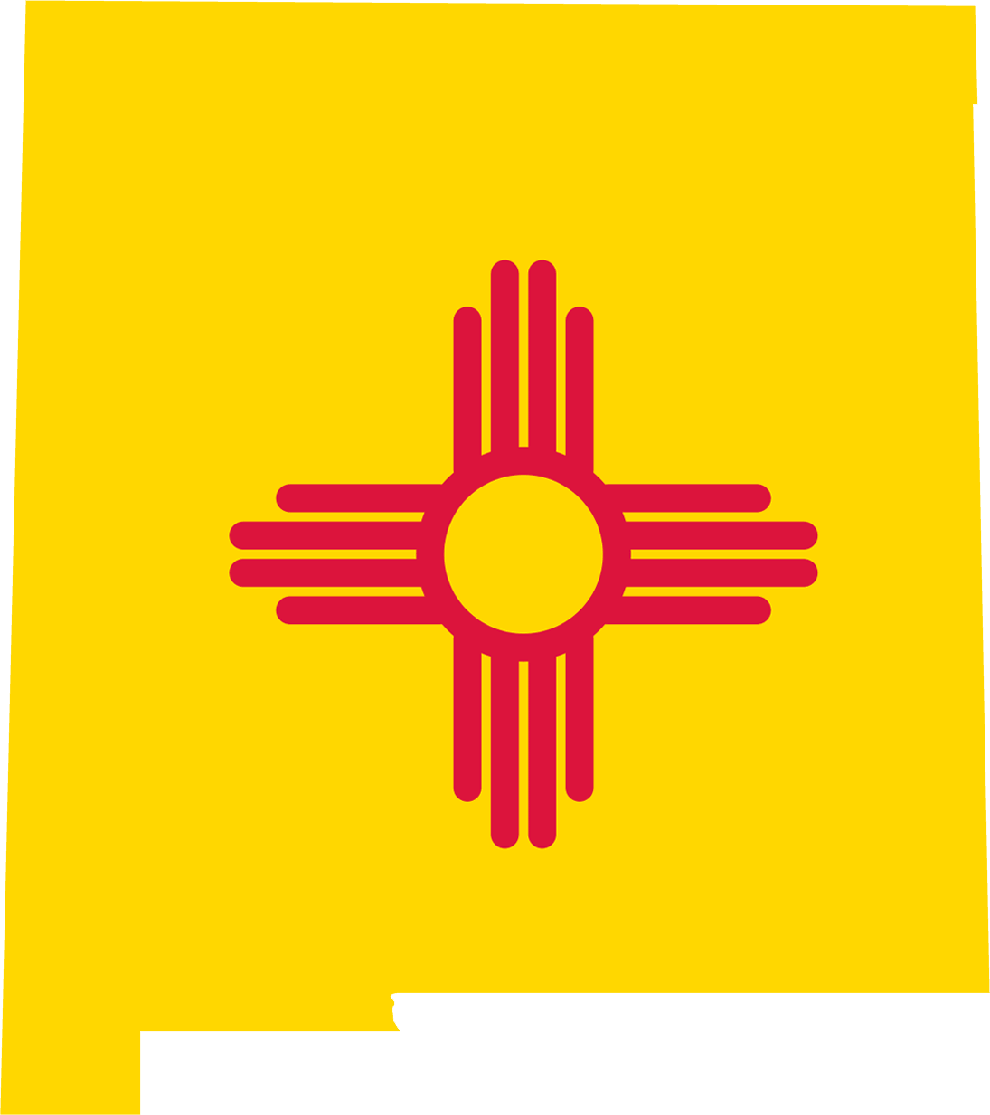 New Mexico Flag Map large map