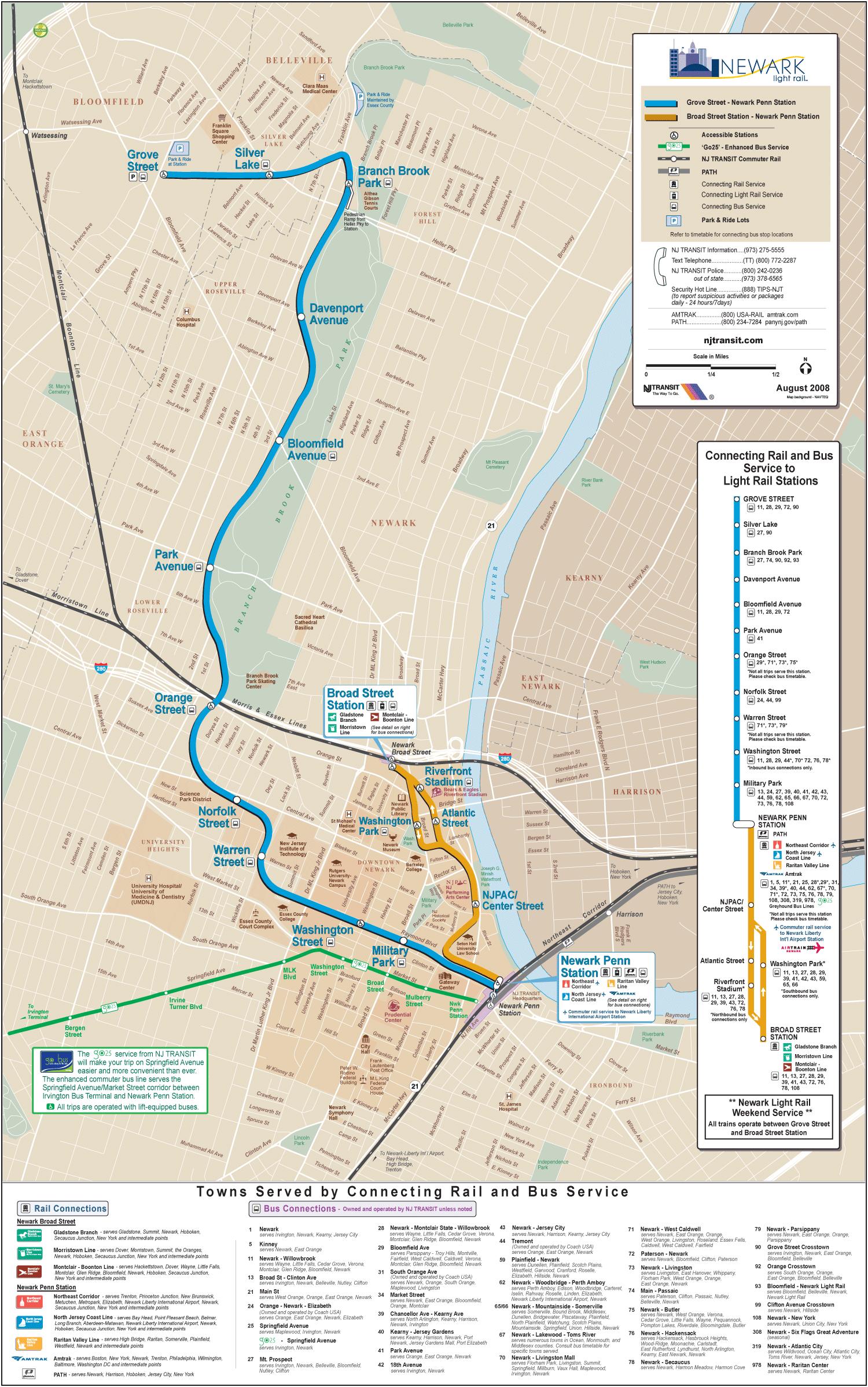 Newark Subway Map