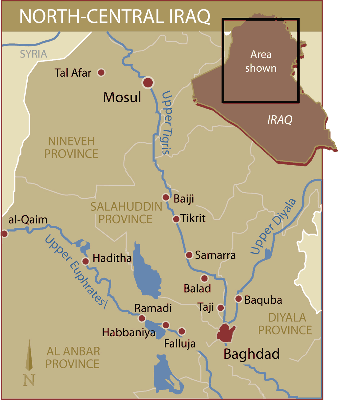 North Central Iraq large map