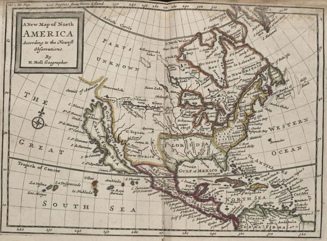 North America Historical Map (political) large map