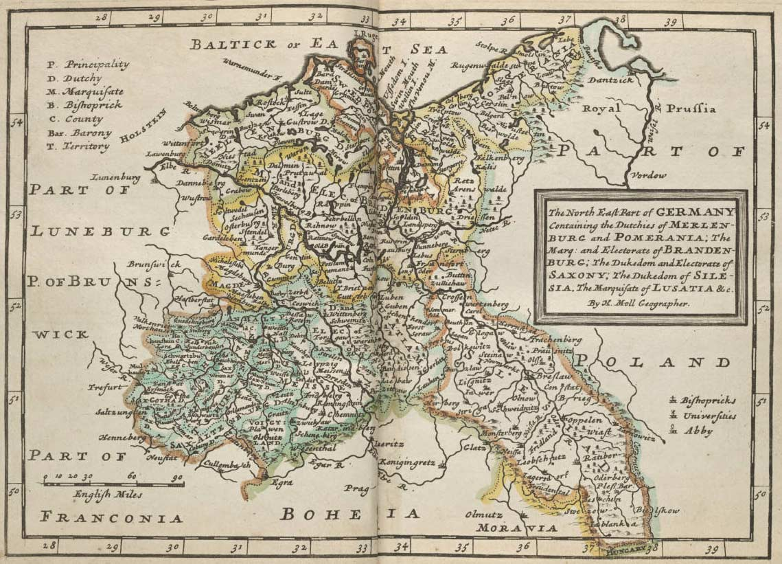 North East of Germany Historical Map