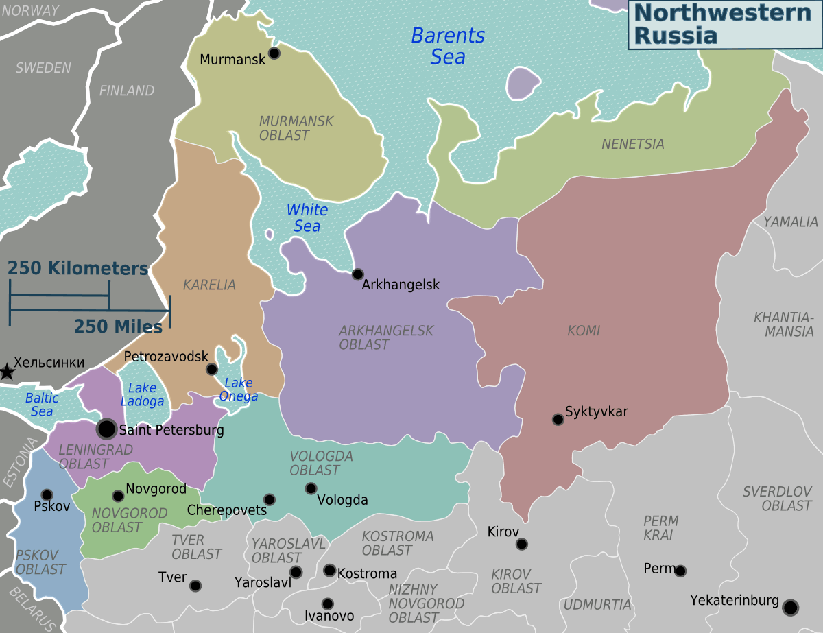 Northwestern Russia Regions Russia maps Northwestern Russia