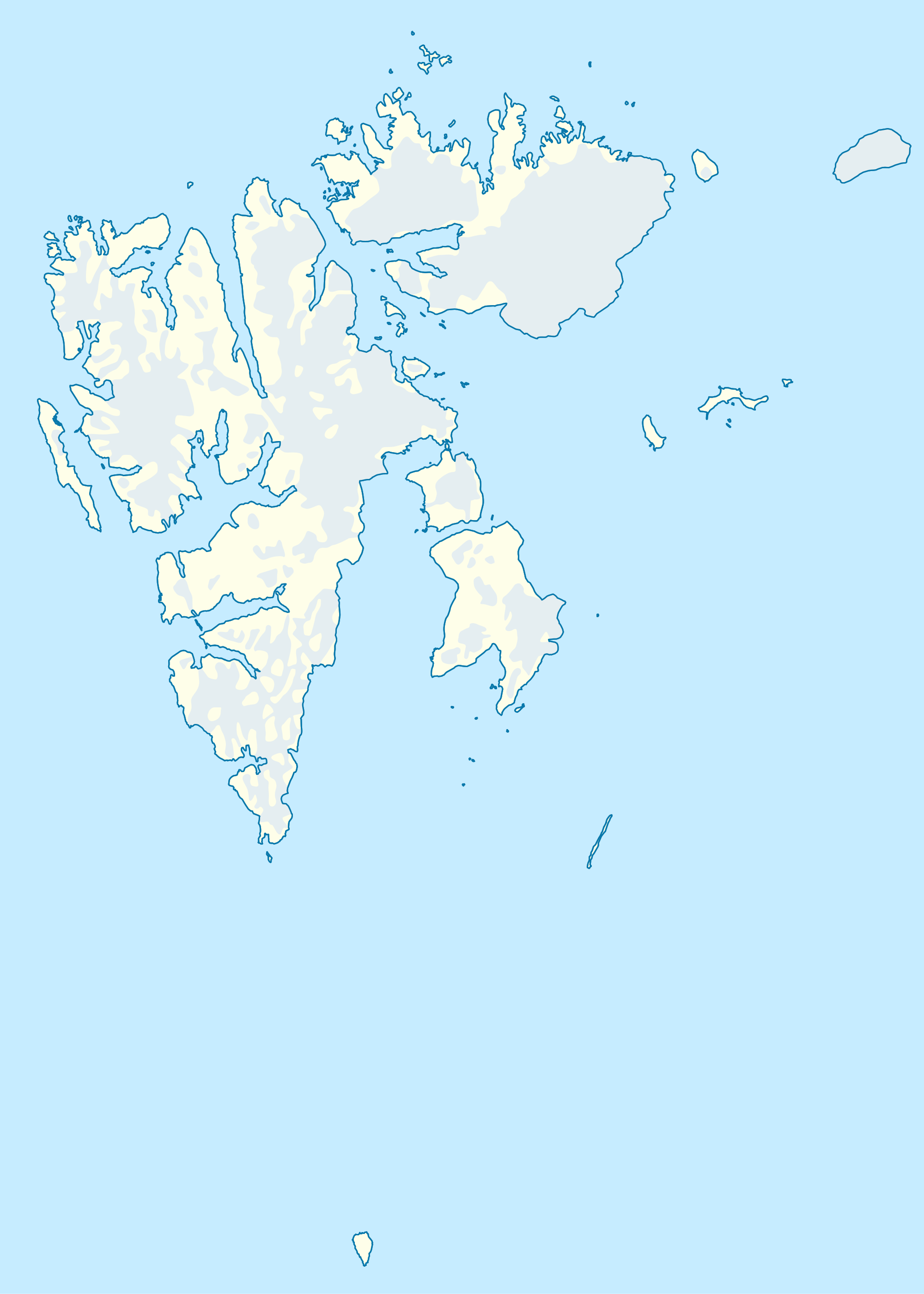 Norway Svalbard Location Map