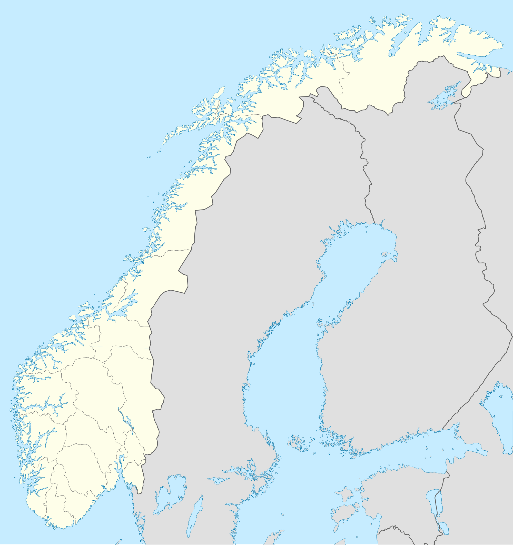 Norway Location Map large map