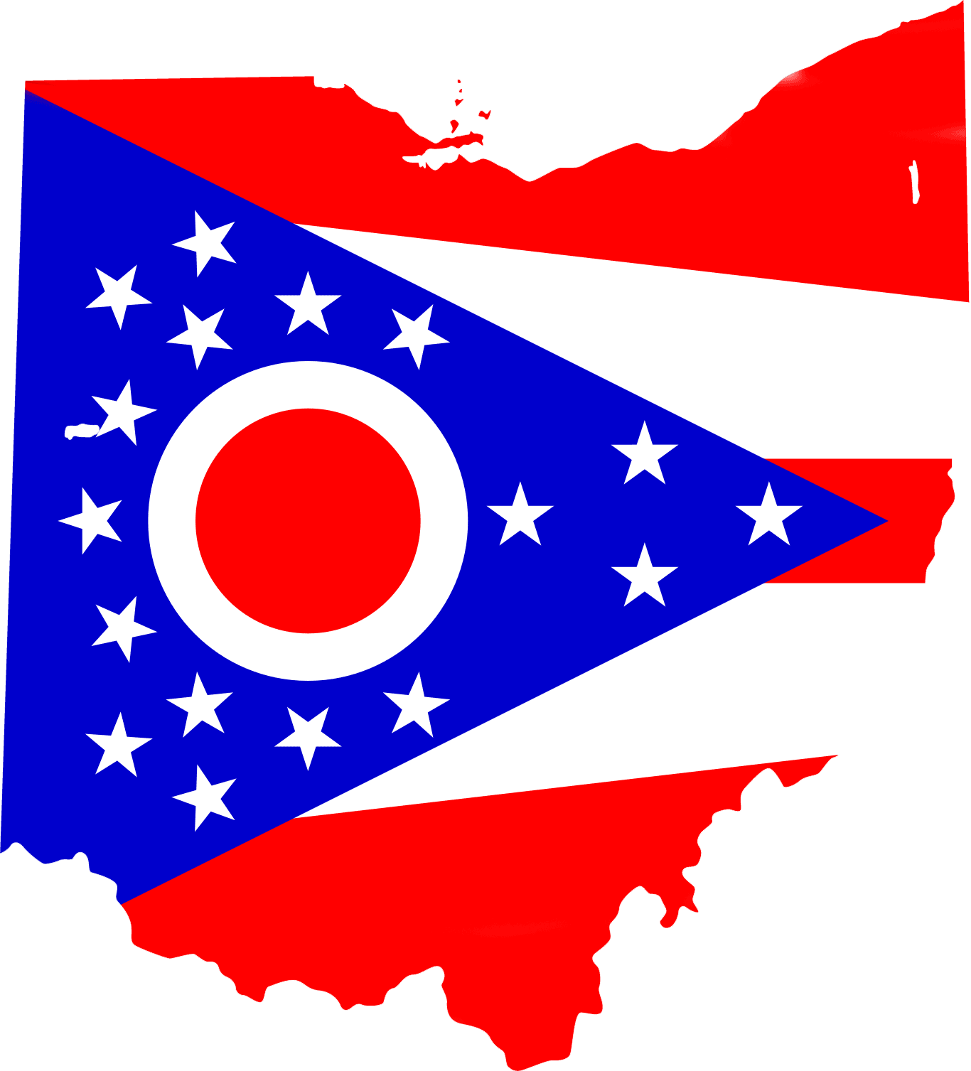 Ohio Flag Map large map