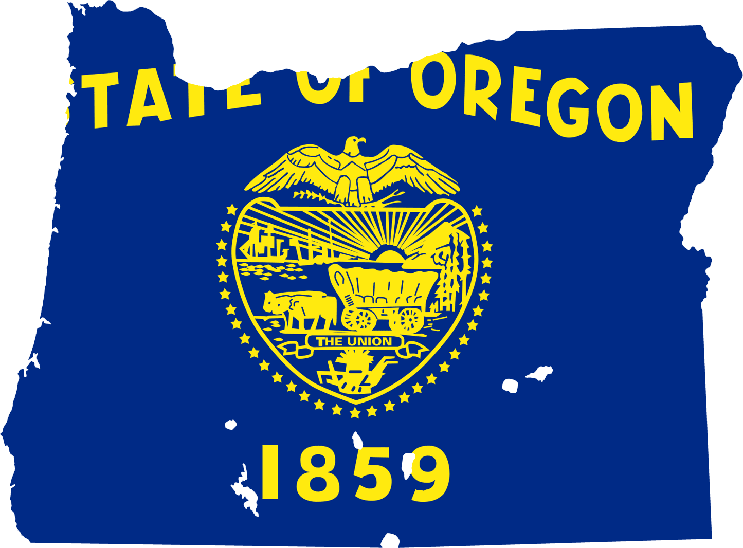 Oregon Flag Map large map