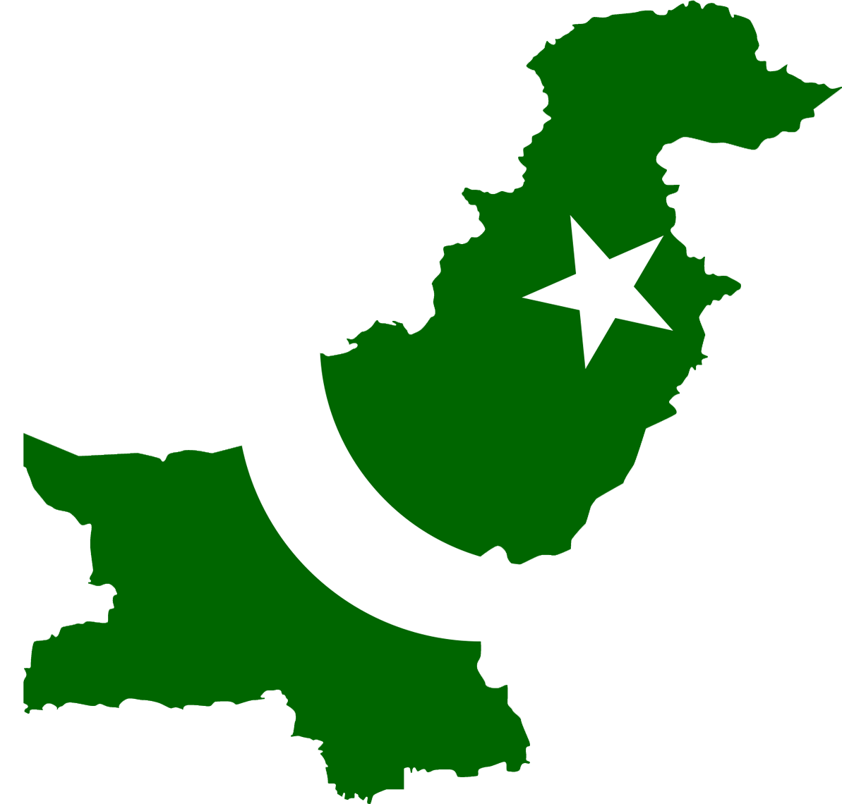Pakistan Flag Map large map