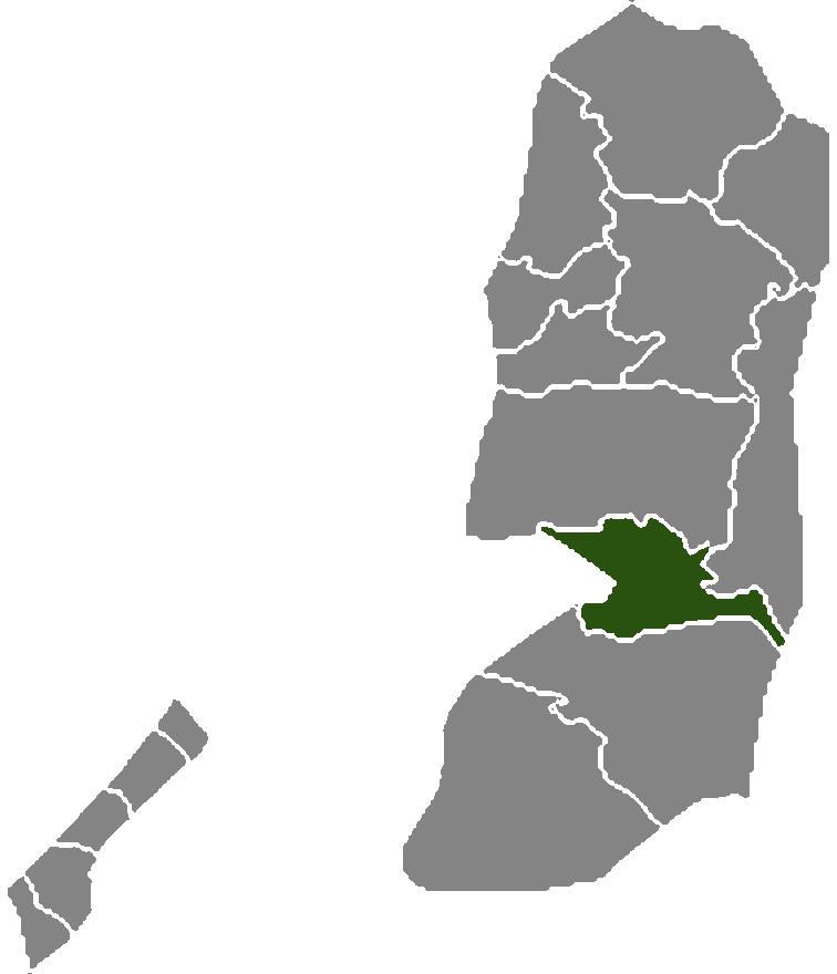 Palestine Districts Jerusalem large map
