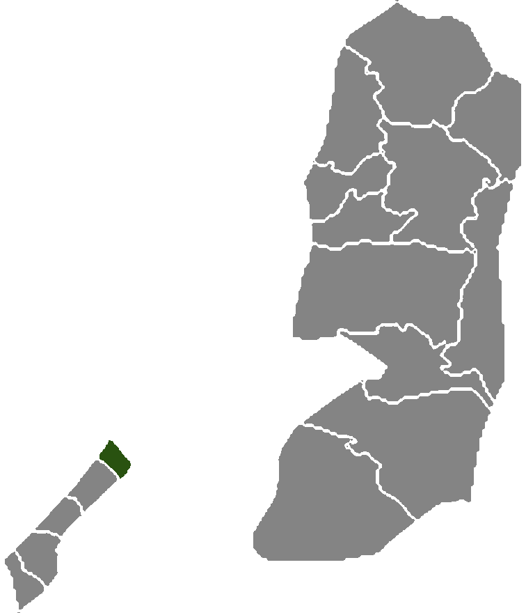 Palestine Districts North Gaza large map