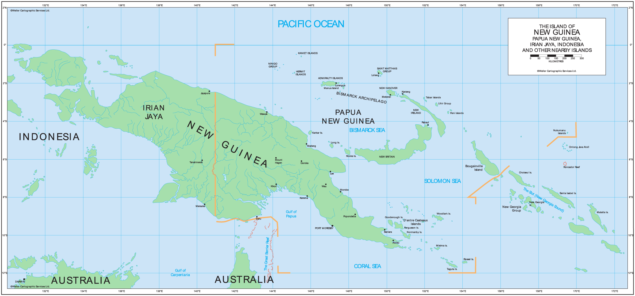 Papua New Guinea Political Map • Mapsof.net