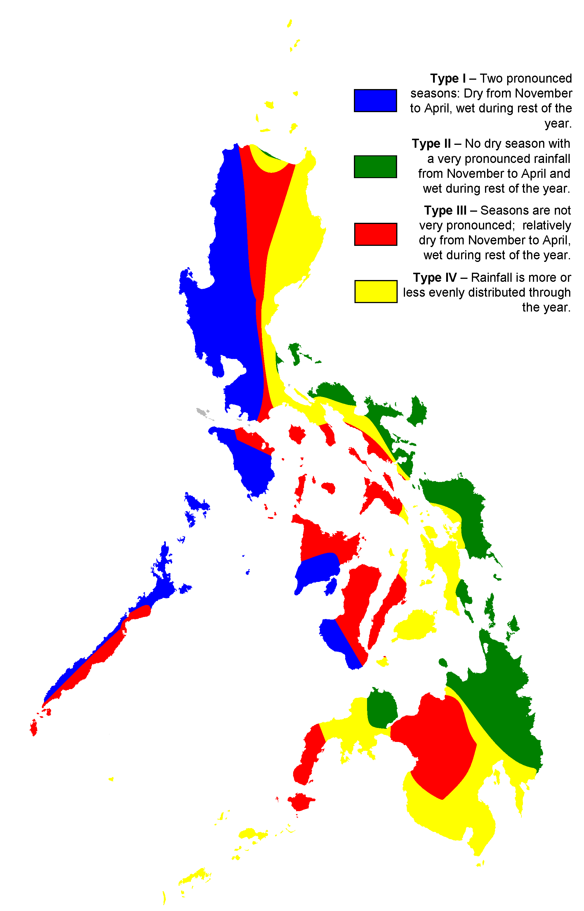 Philippine Climate Map large map