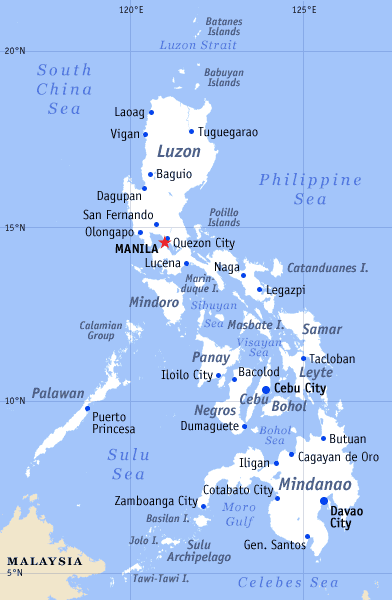 Philippines General Map large map