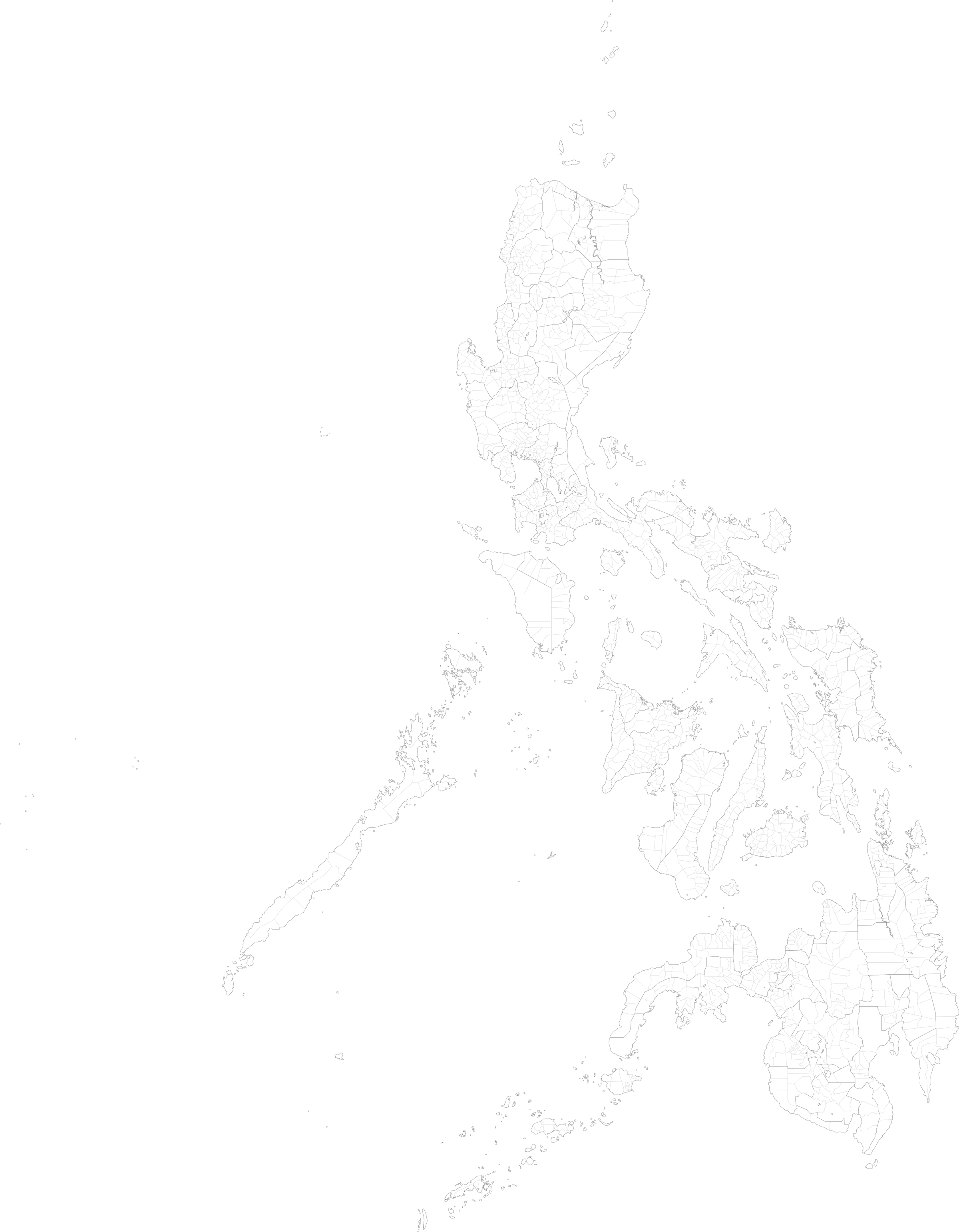 Philippines Map Cities large map