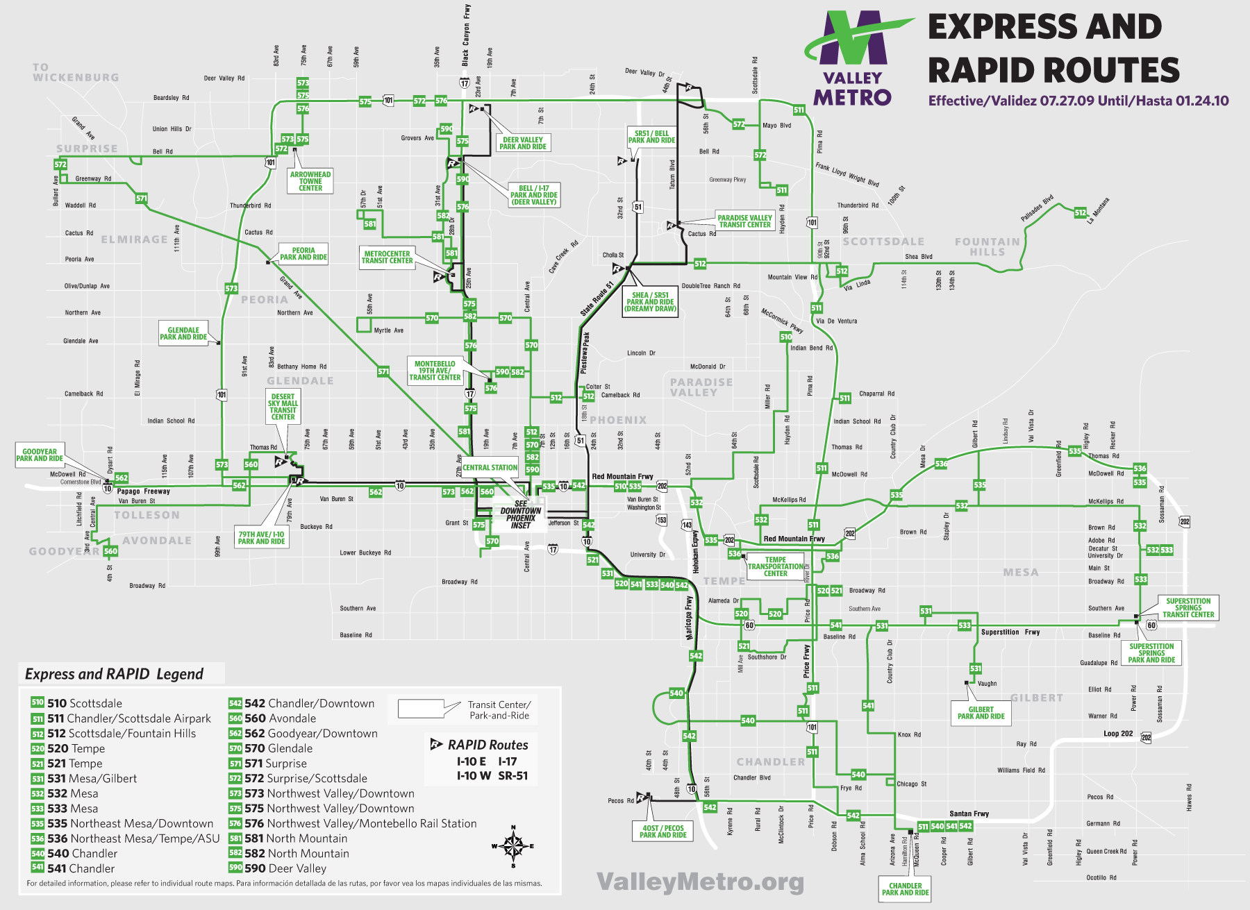 Phoenix Express Bus Map Mapsofnet