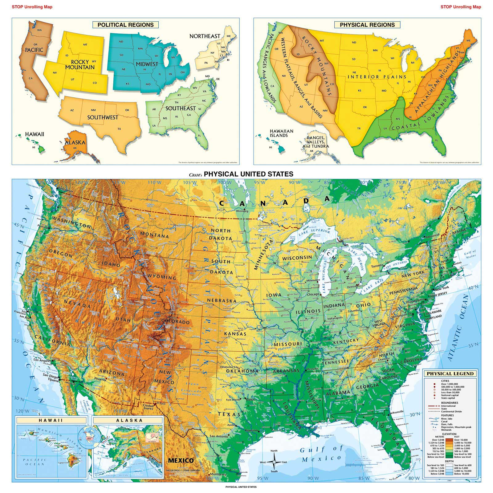Physical Usa Map Mapsofnet - Pictures of usa map