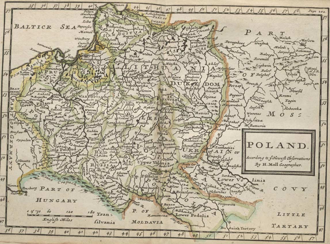 Poland Historical Map large map