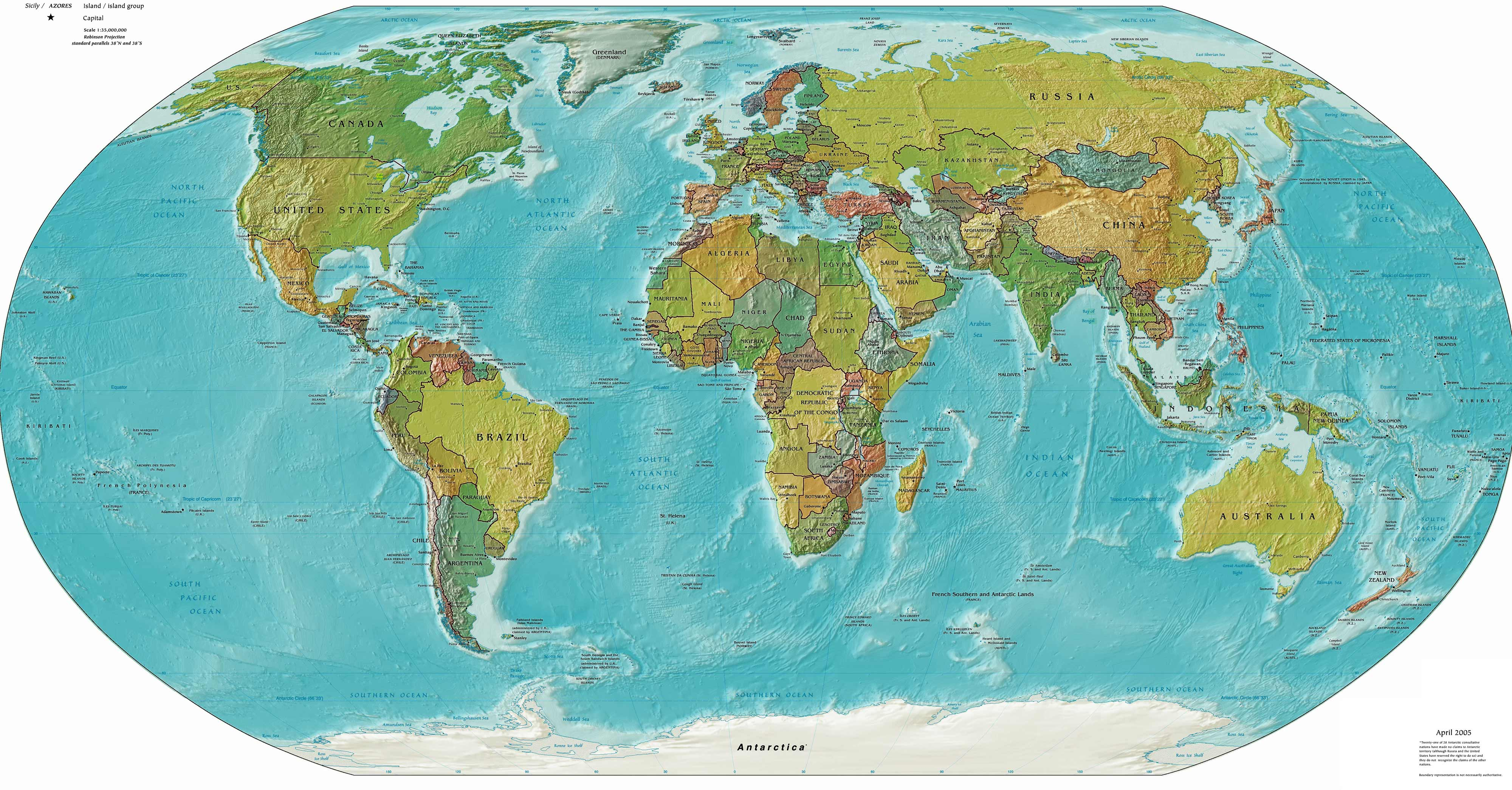 Political and physical world map mapsof click on the political and physical world map gumiabroncs Choice Image