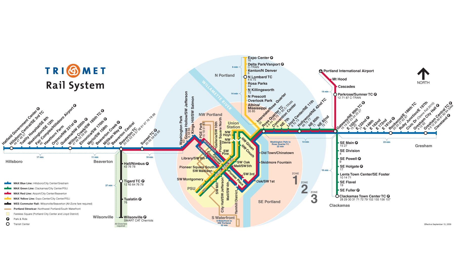 Portland Metro System Map (subway) • Mapsof.net