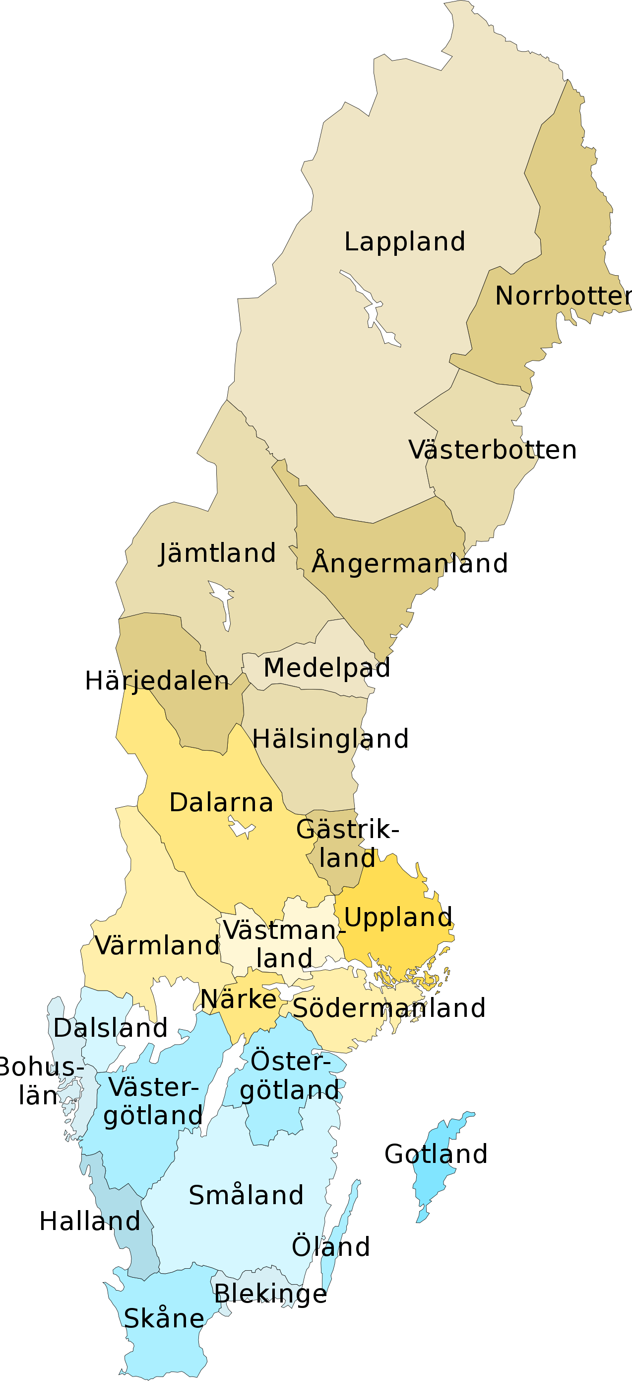 provinces of sweden sweden maps