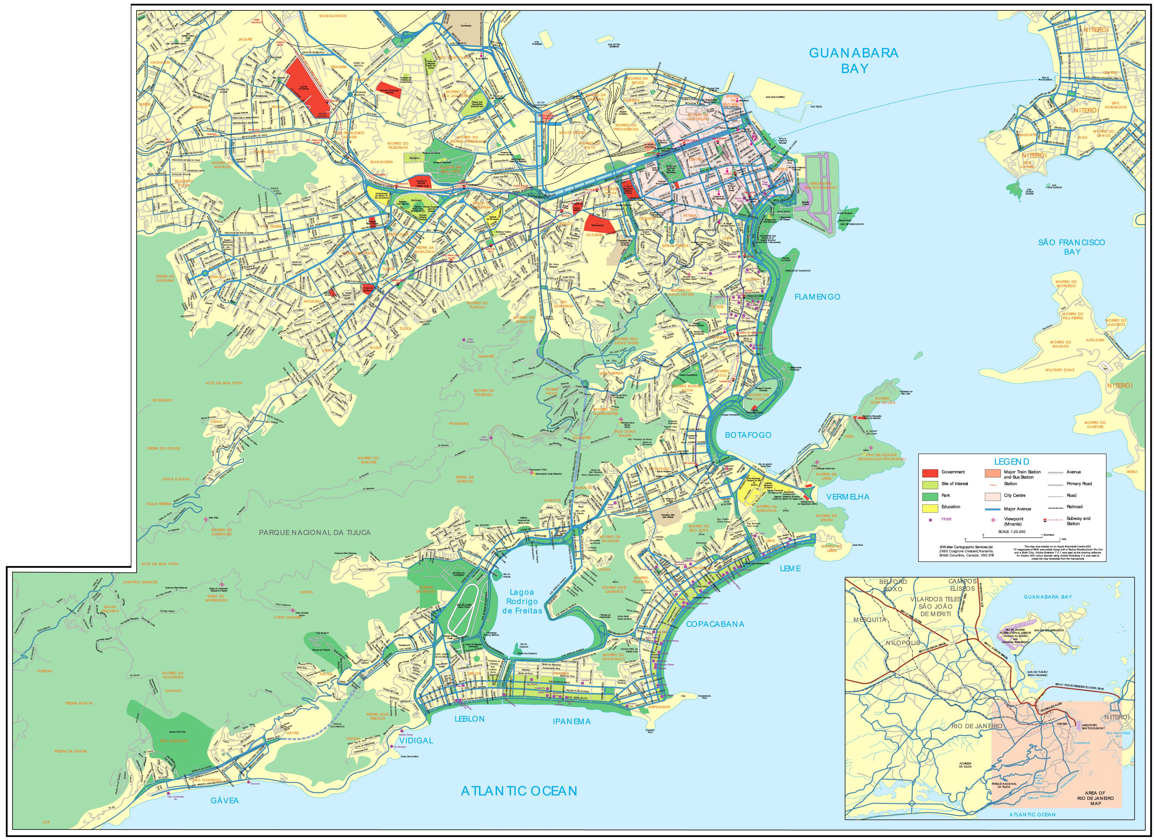 Rio De Janeiro Map • Mapsof.net