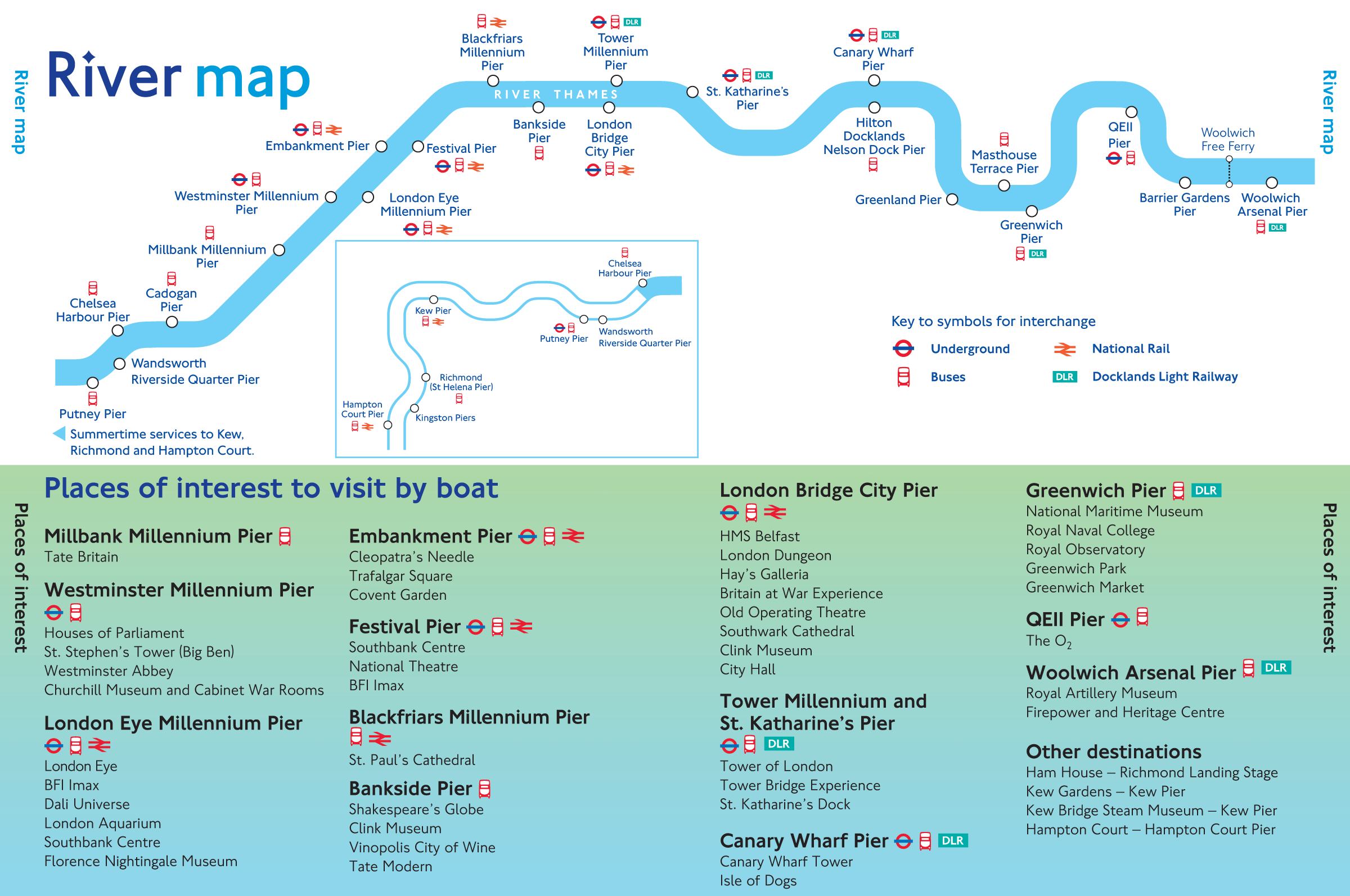 River Thames Map large map