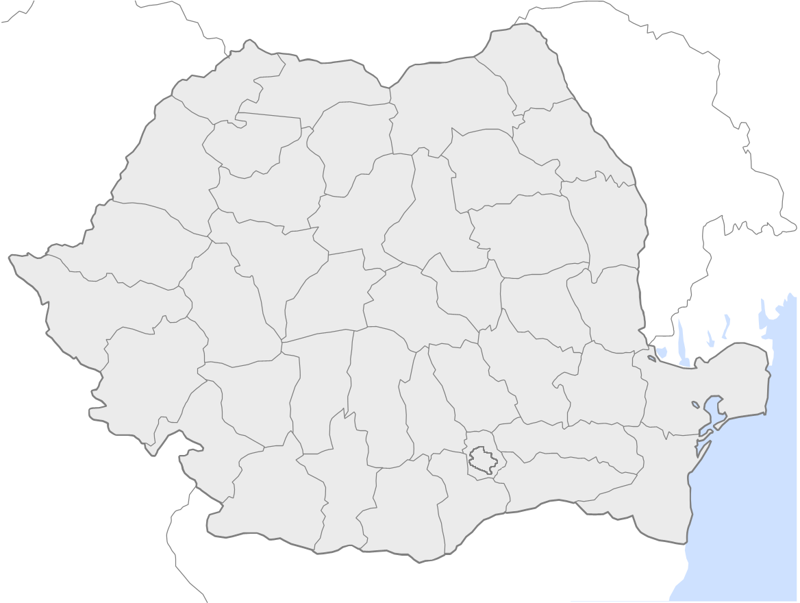 Romania Counties Blank large map