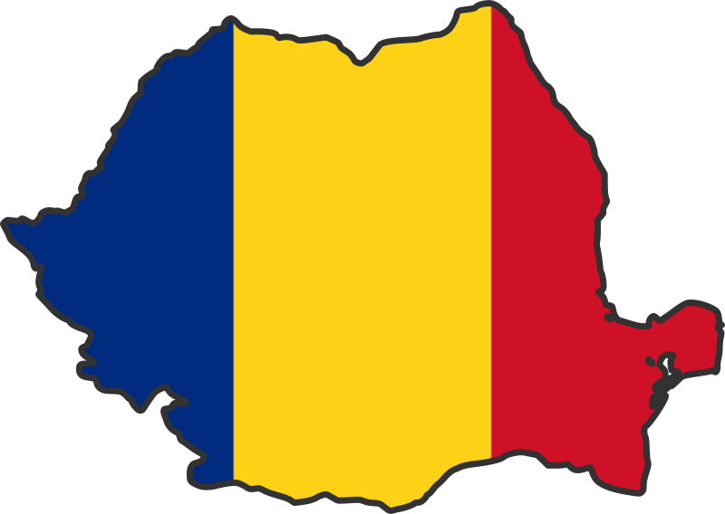 Romania Flag Map large map