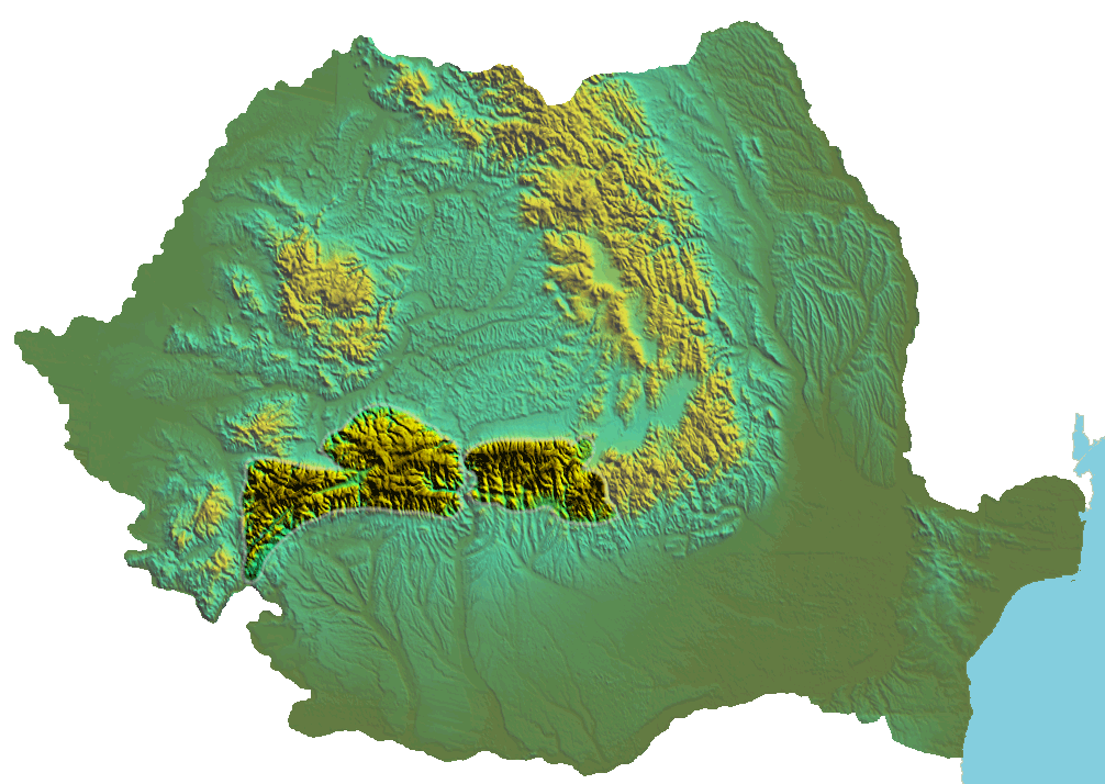 Romania Topographic