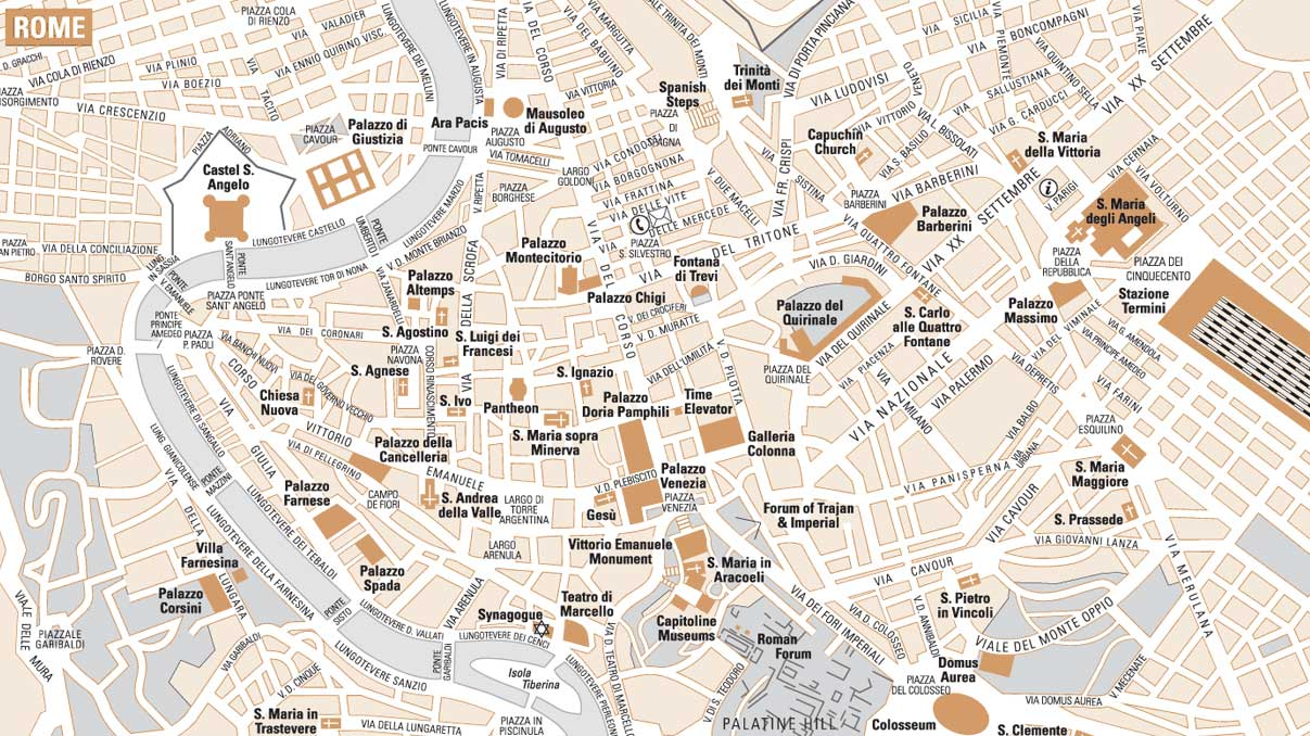Rome City Map 1 large map