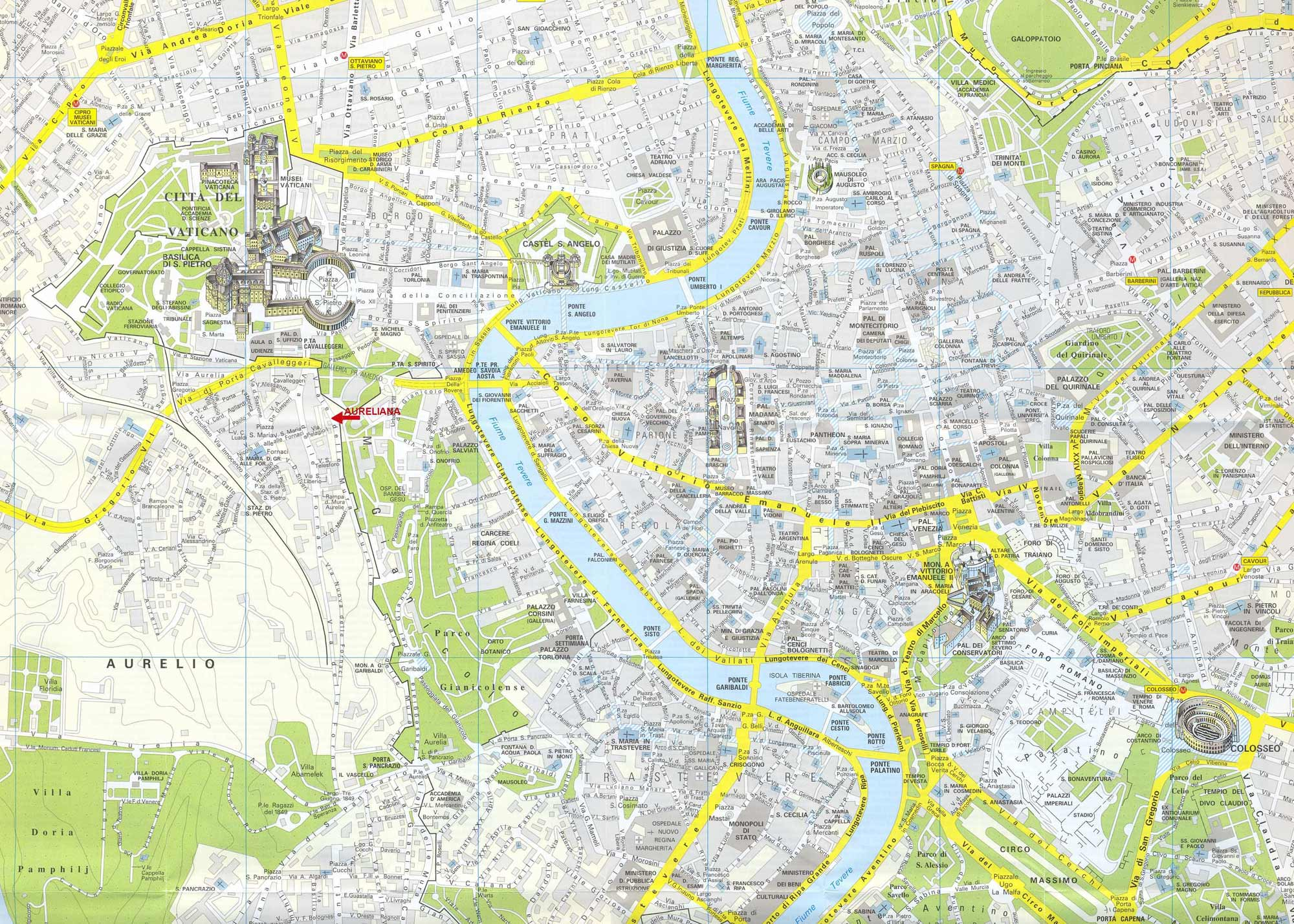 Rome City Map 3 large map