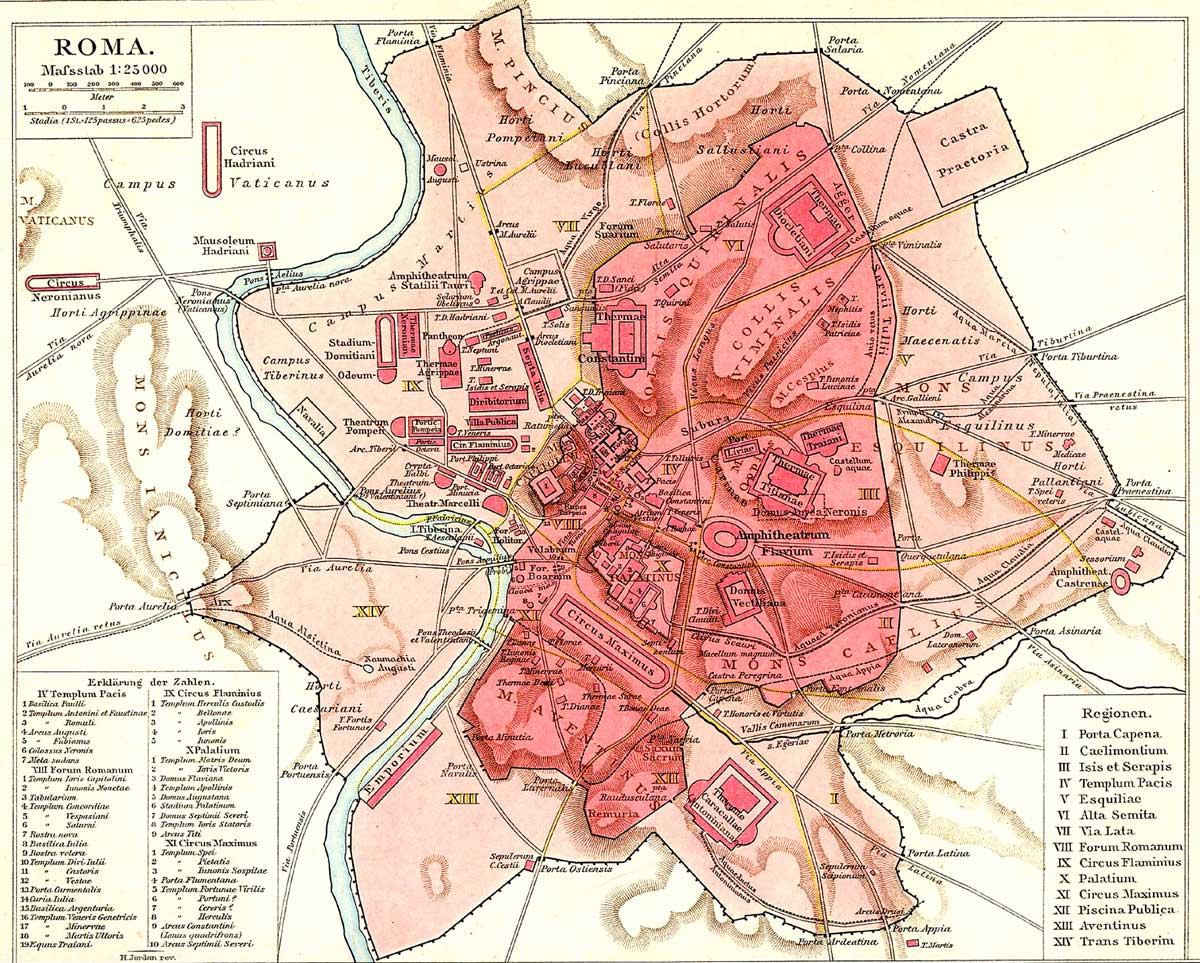 Rome Historical Map large map