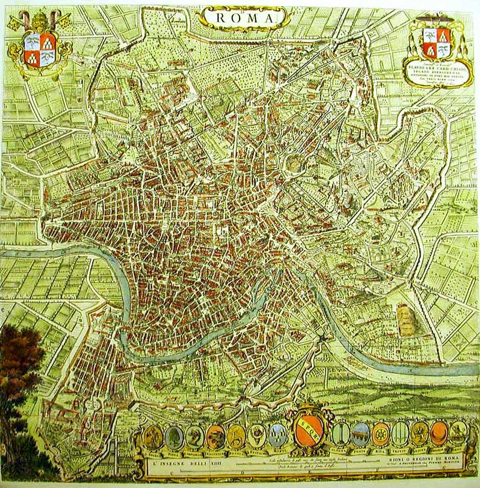 Rome Map Ancient large map