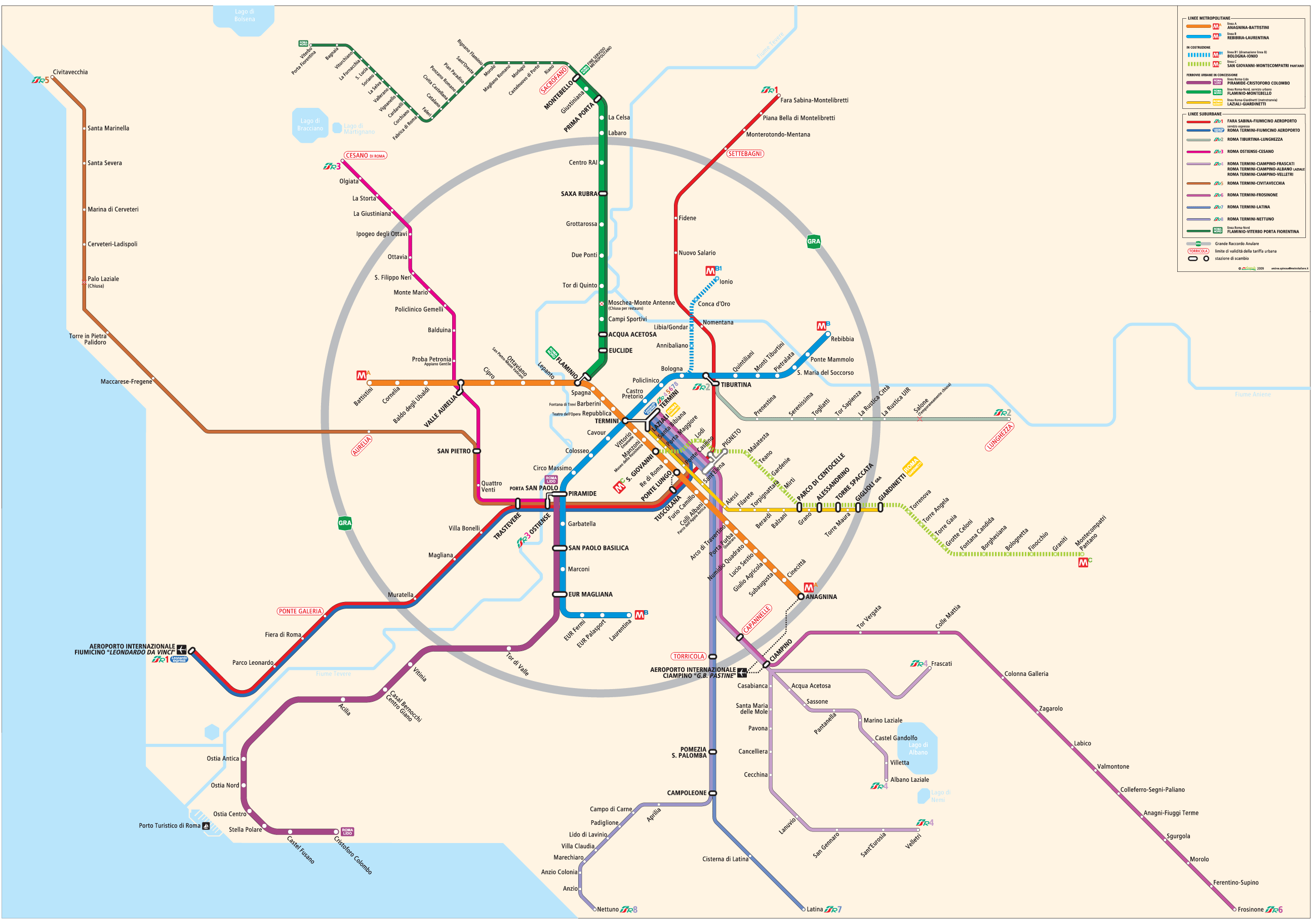 Ancient Rome Subway Map.Rome Metro Map Mapsof Net