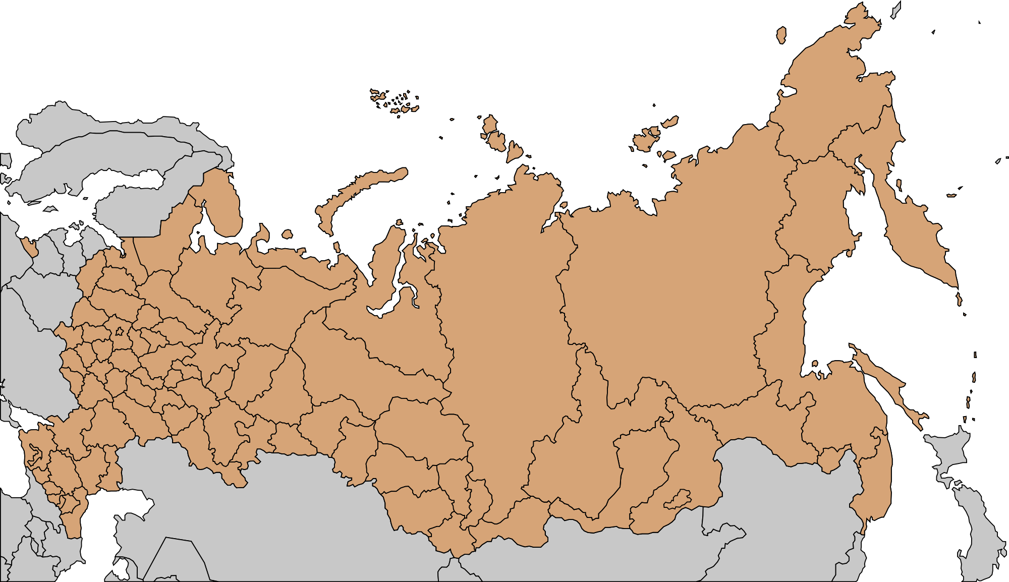 Russia And Central Asia Map Mapsof Net