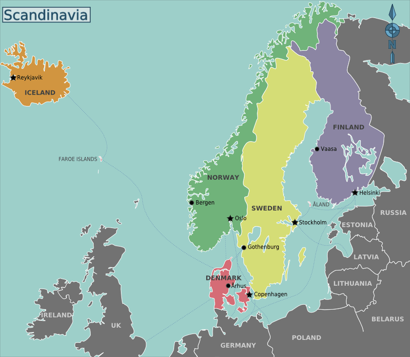 Scandinavia Map 1 large map