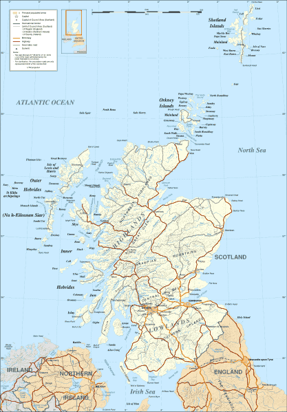 image relating to Printable Map of Scotland identified as Scotland Map 1