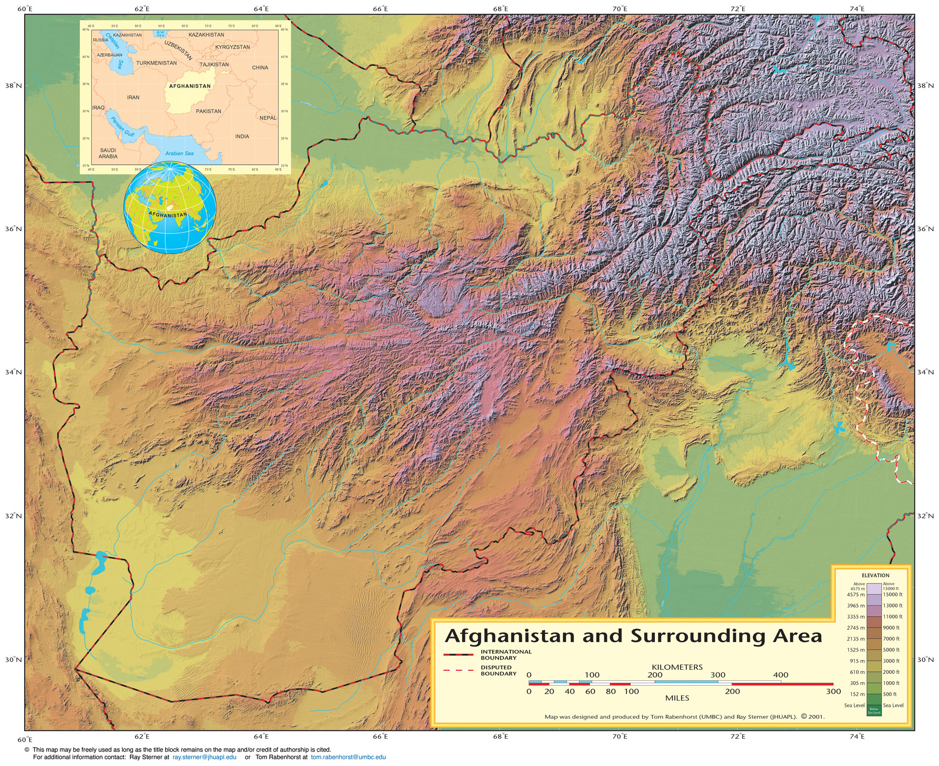 Shaded Relief Map Of Afghanistan (physical) large map