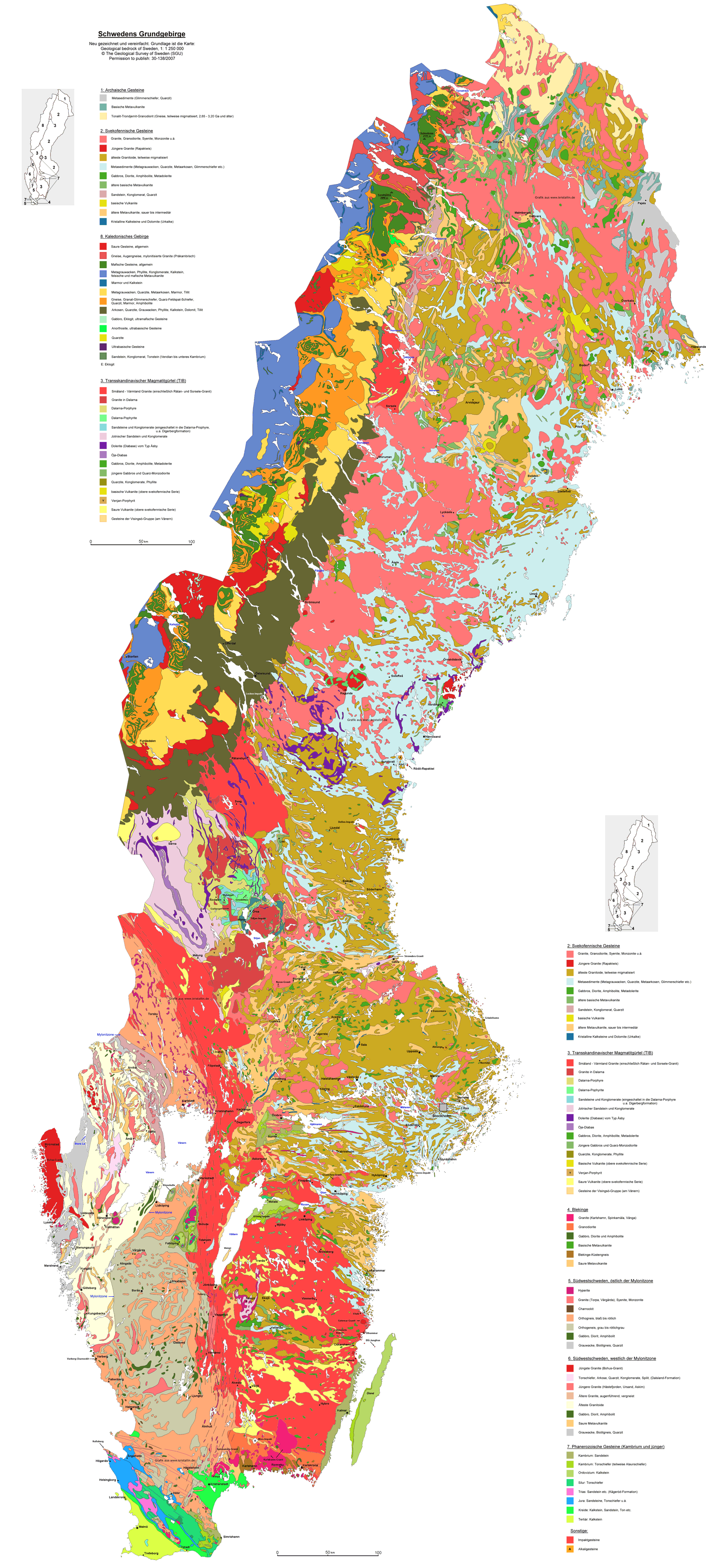 Sweden Map Mapsofnet - Sweden full map
