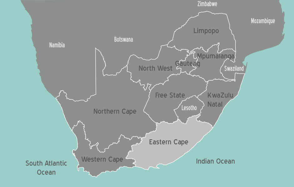 South Africa Eastern Cape Map • Mapsof.net