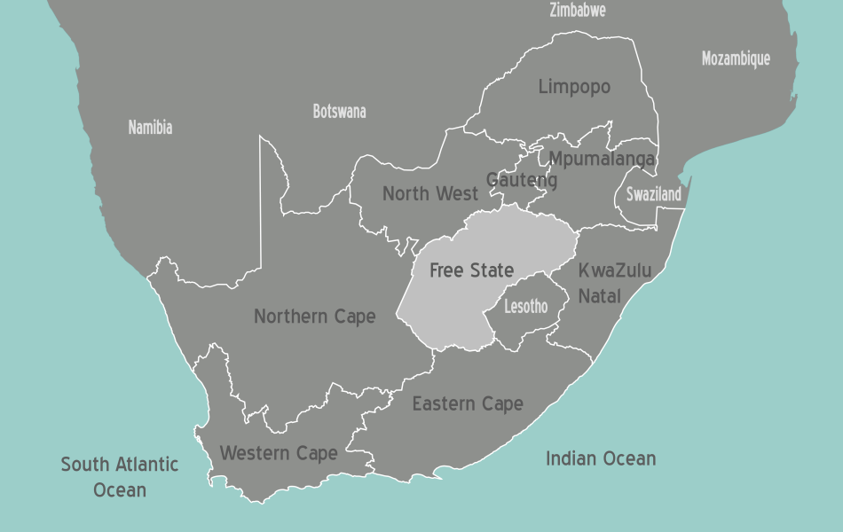 South Africa Free State Map • Mapsof.net