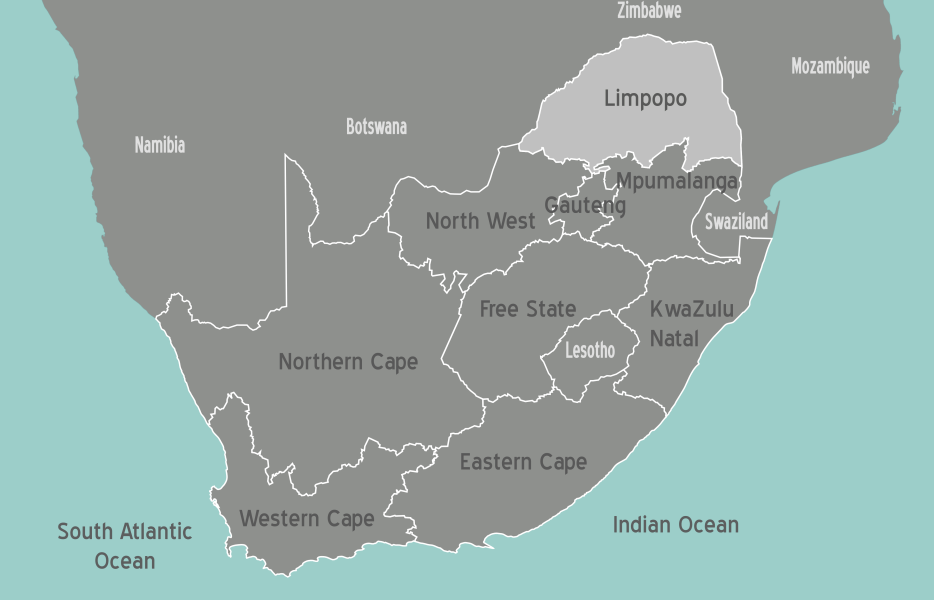 South Africa Limpopo Map • Mapsof.net