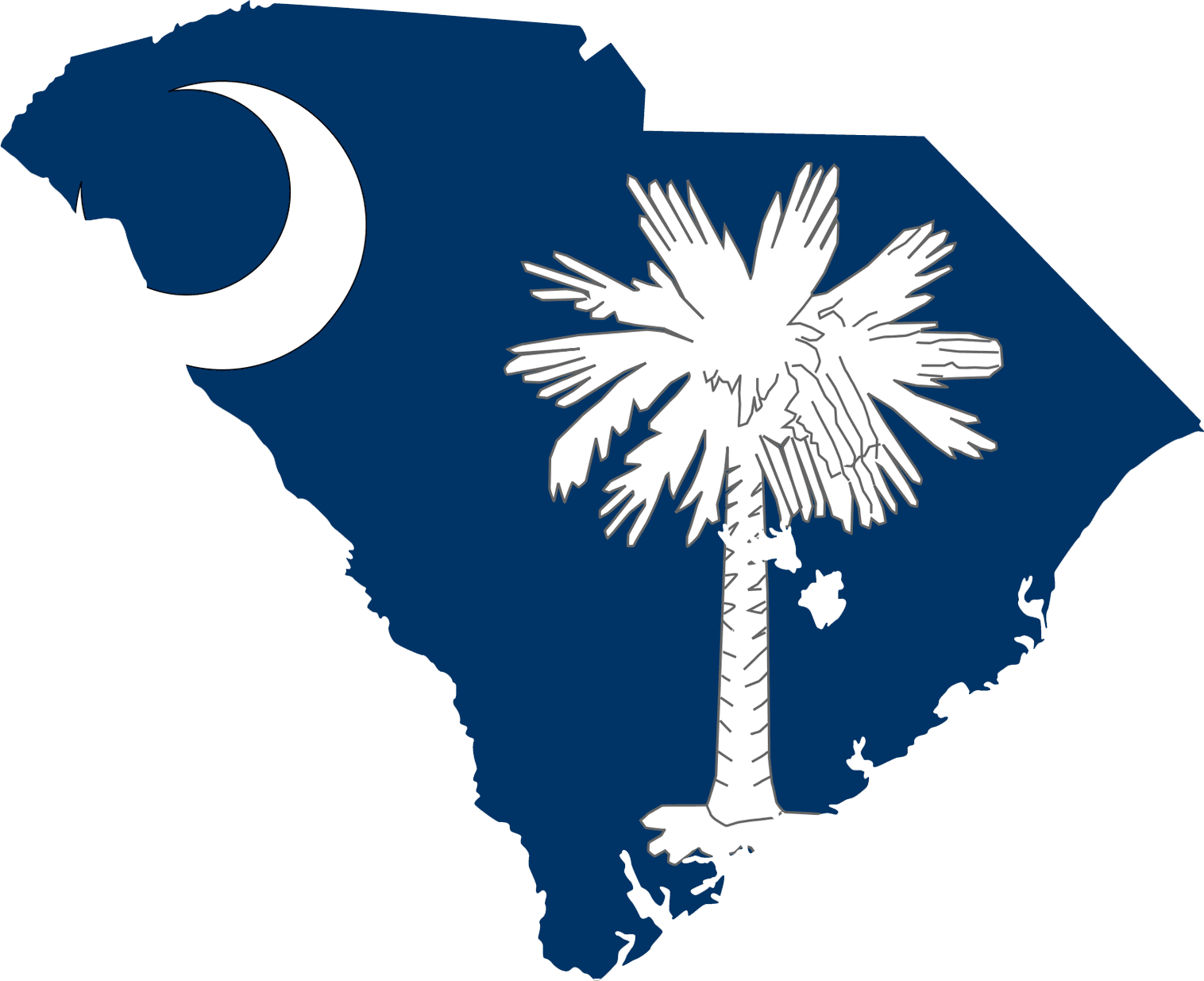 South Carolina Flag Map  Mapsof