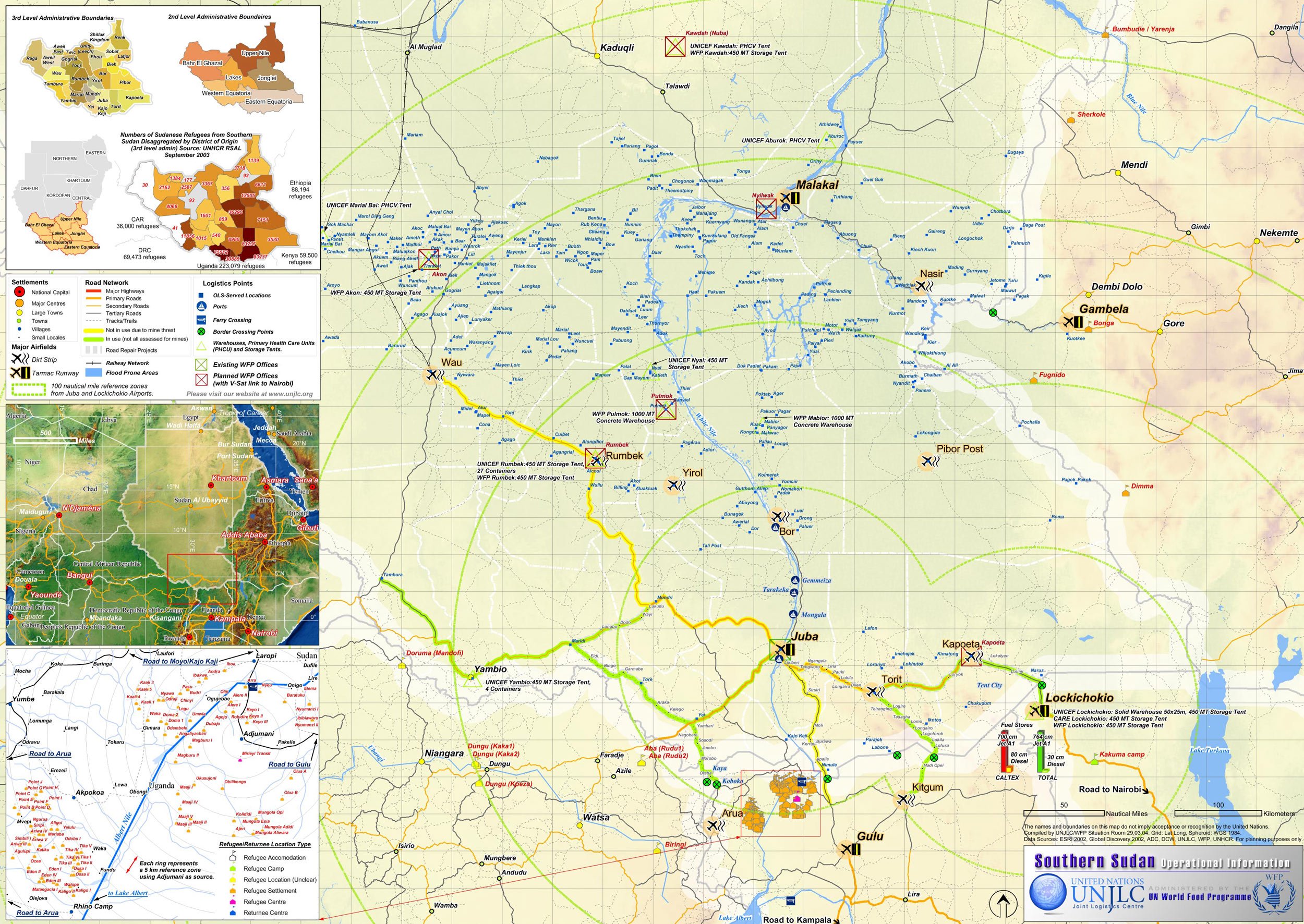South Sudan Map Detailed large map