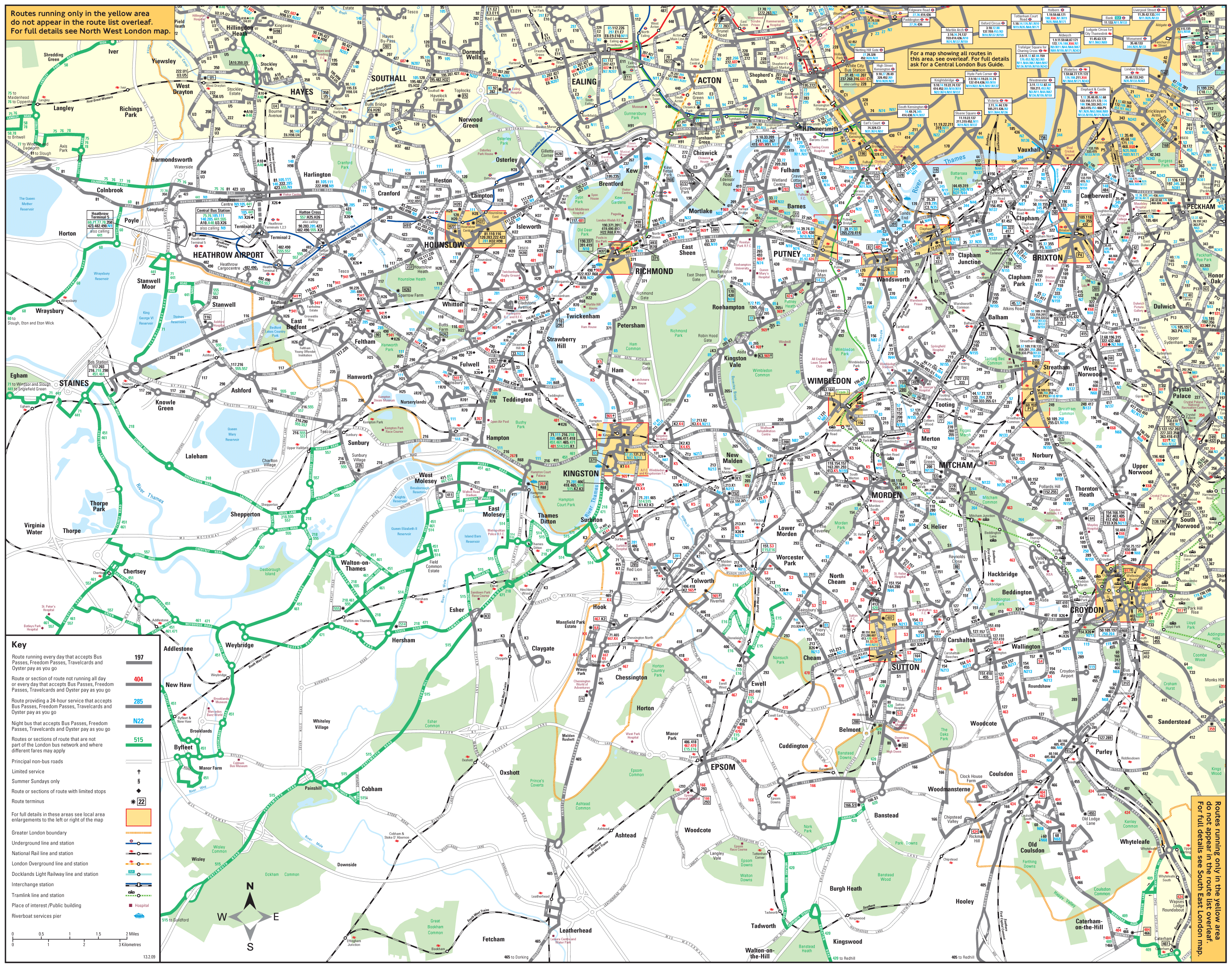 Map Of North East London.South West London Bus Map Mapsof Net