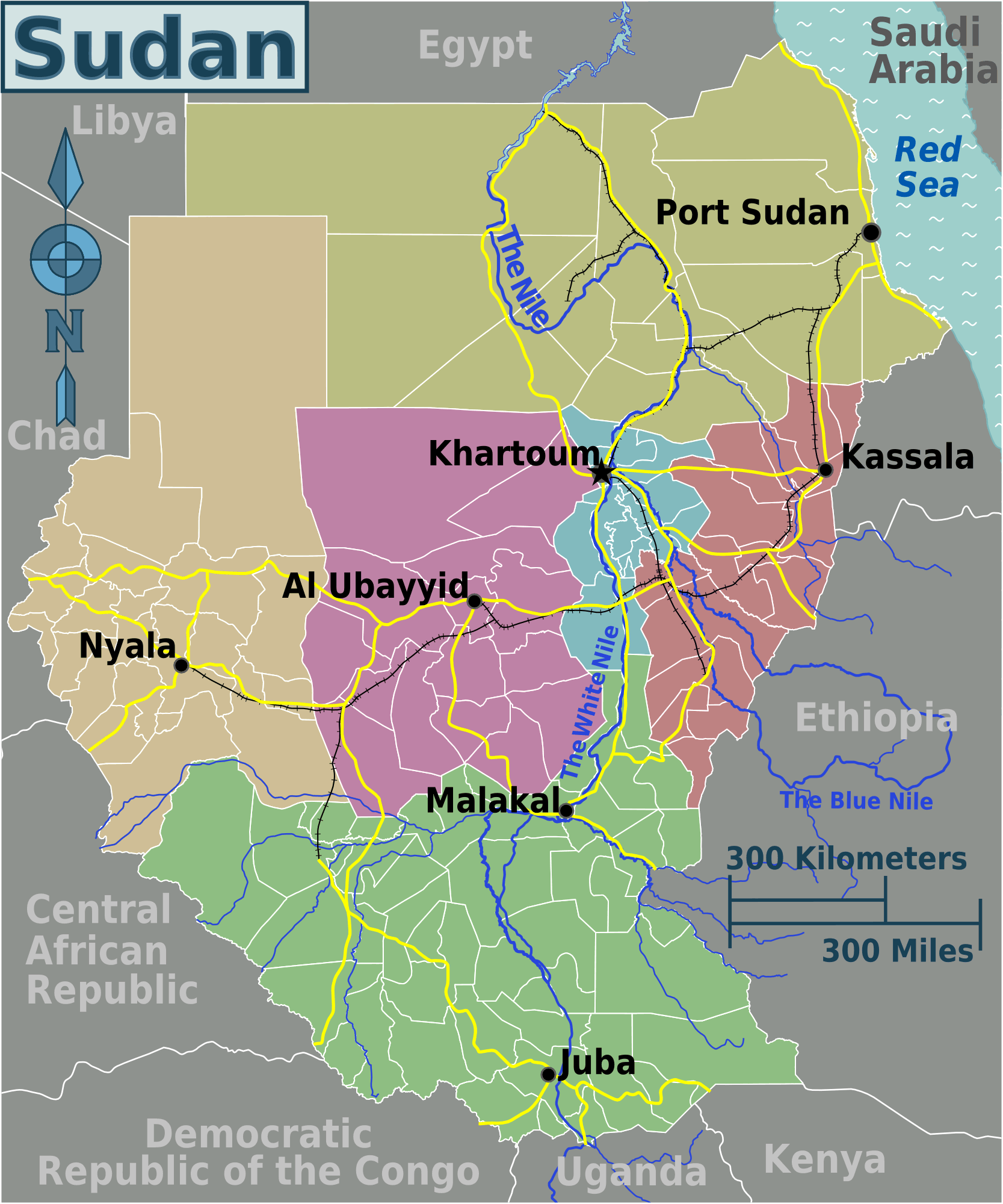 Where Is Sudan Republic Of The Sudan Maps Mapsofnet - Sudan map